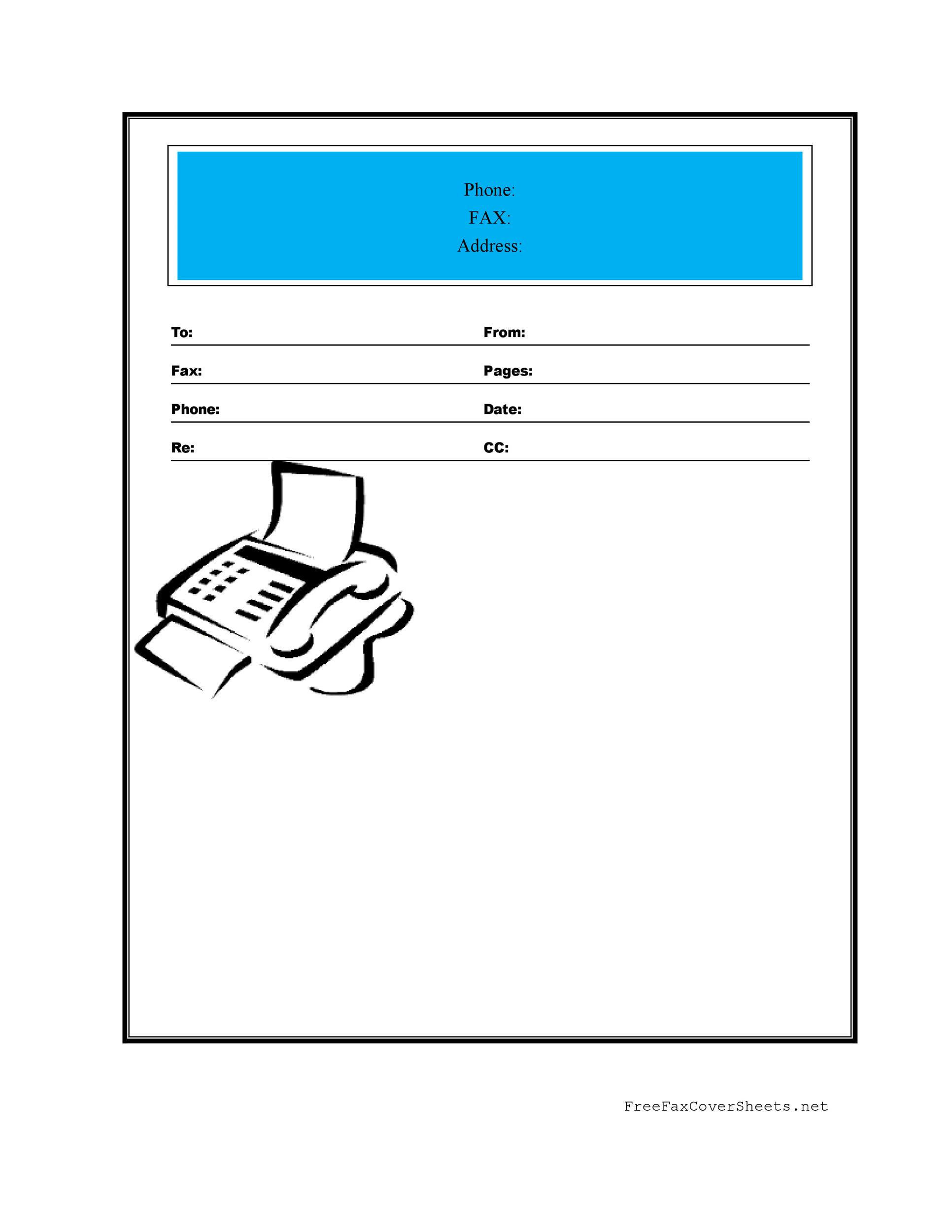 what is a fax cover sheet radiovkm