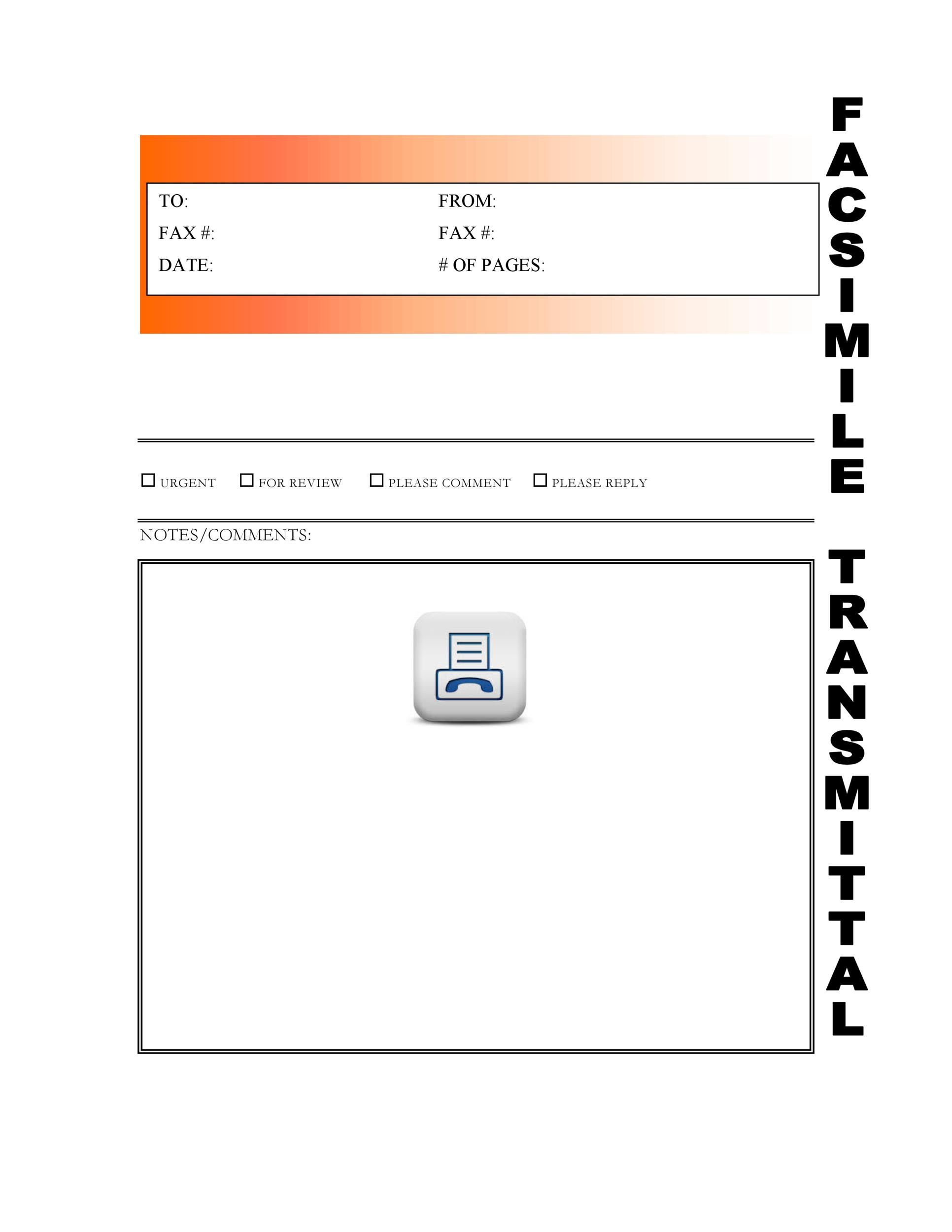 40 Printable Fax Cover Sheet Templates - Template Lab - Fax Letter Format Sample