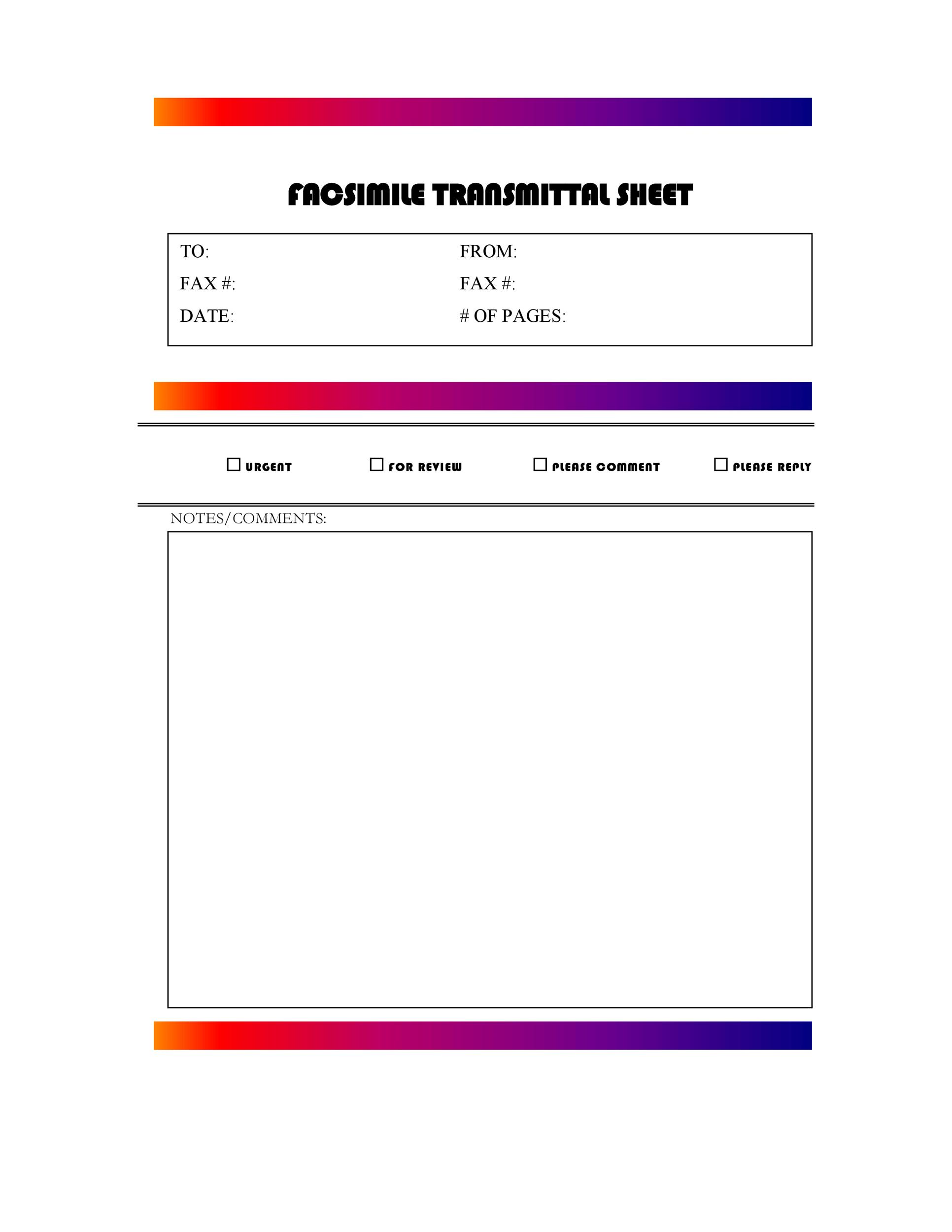 40 Printable Fax Cover Sheet Templates - Template Lab - fax cover sheet download