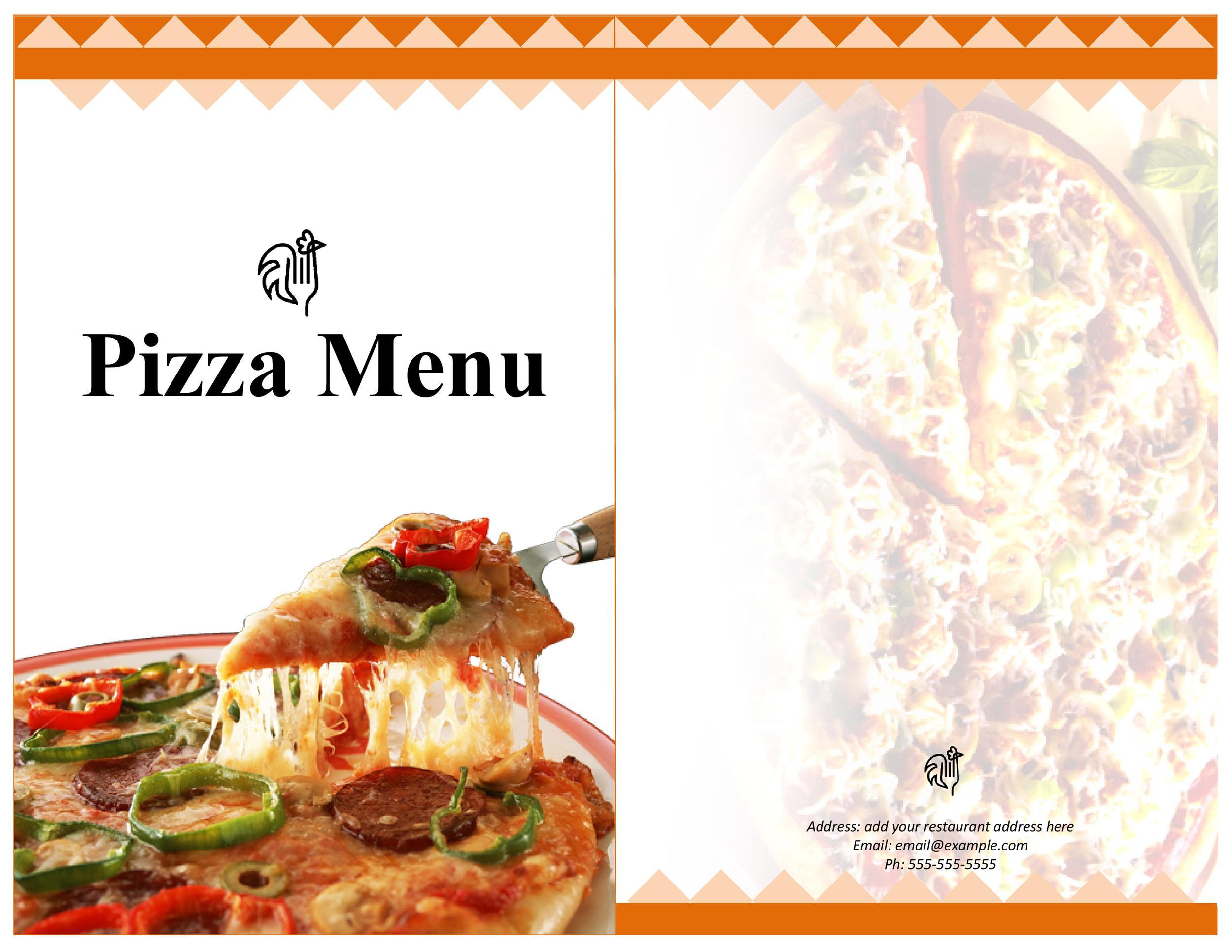 30 Restaurant Menu Templates  Designs - Template Lab - Sample Pizza Menu Template