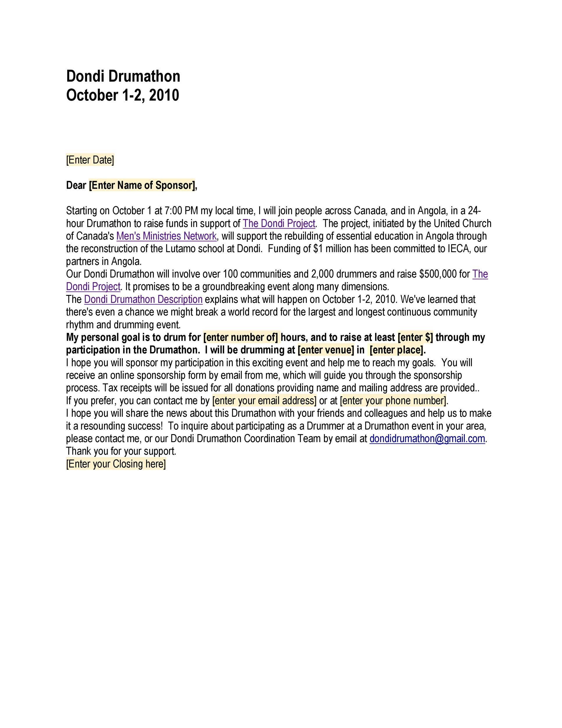 40+ Sponsorship Letter  Sponsorship Proposal Templates - sponsorship proposal template