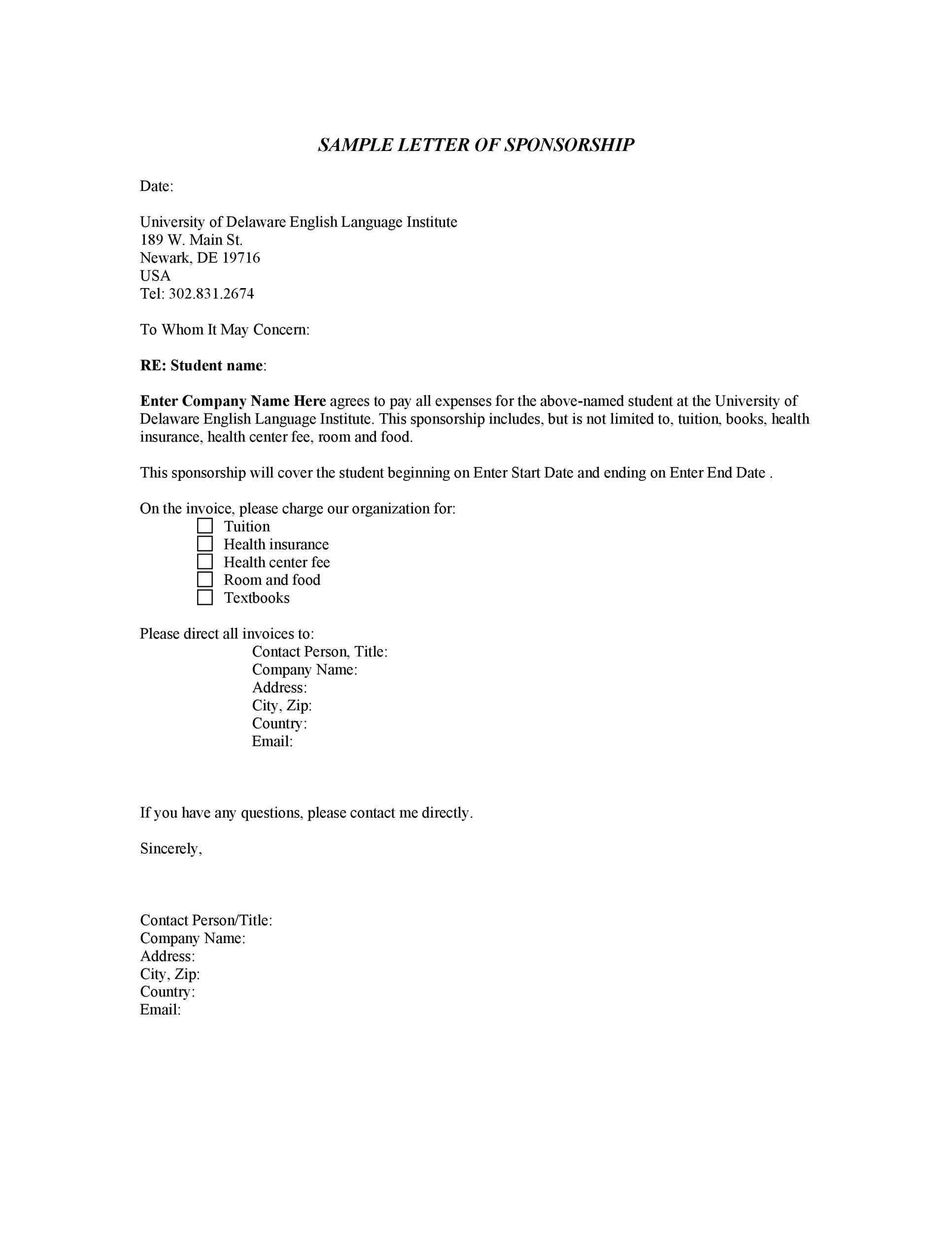 40+ Sponsorship Letter  Sponsorship Proposal Templates - How To Start A Letter