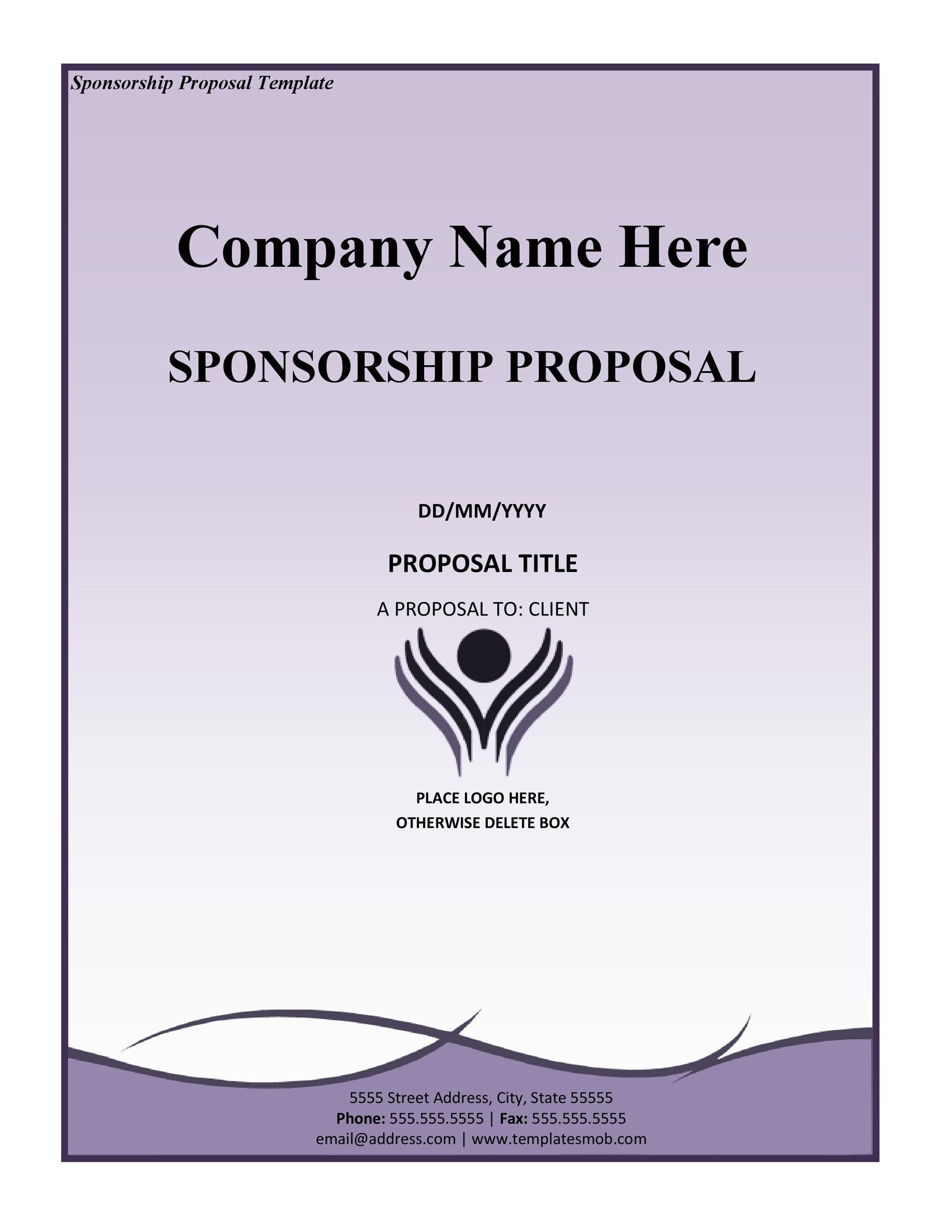 40+ Sponsorship Letter  Sponsorship Proposal Templates - proposal template for sponsorship