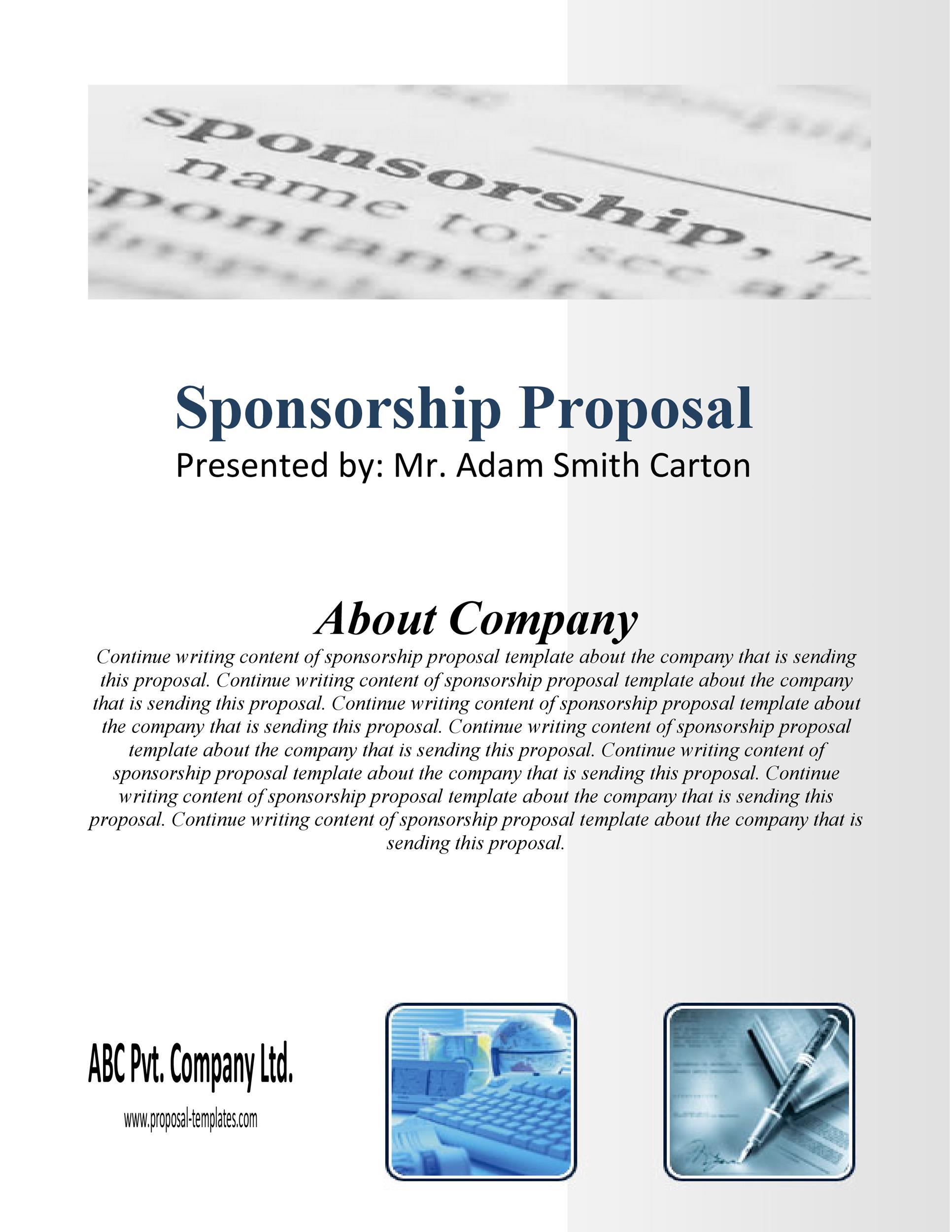 40+ Sponsorship Letter  Sponsorship Proposal Templates - example sponsorship proposal