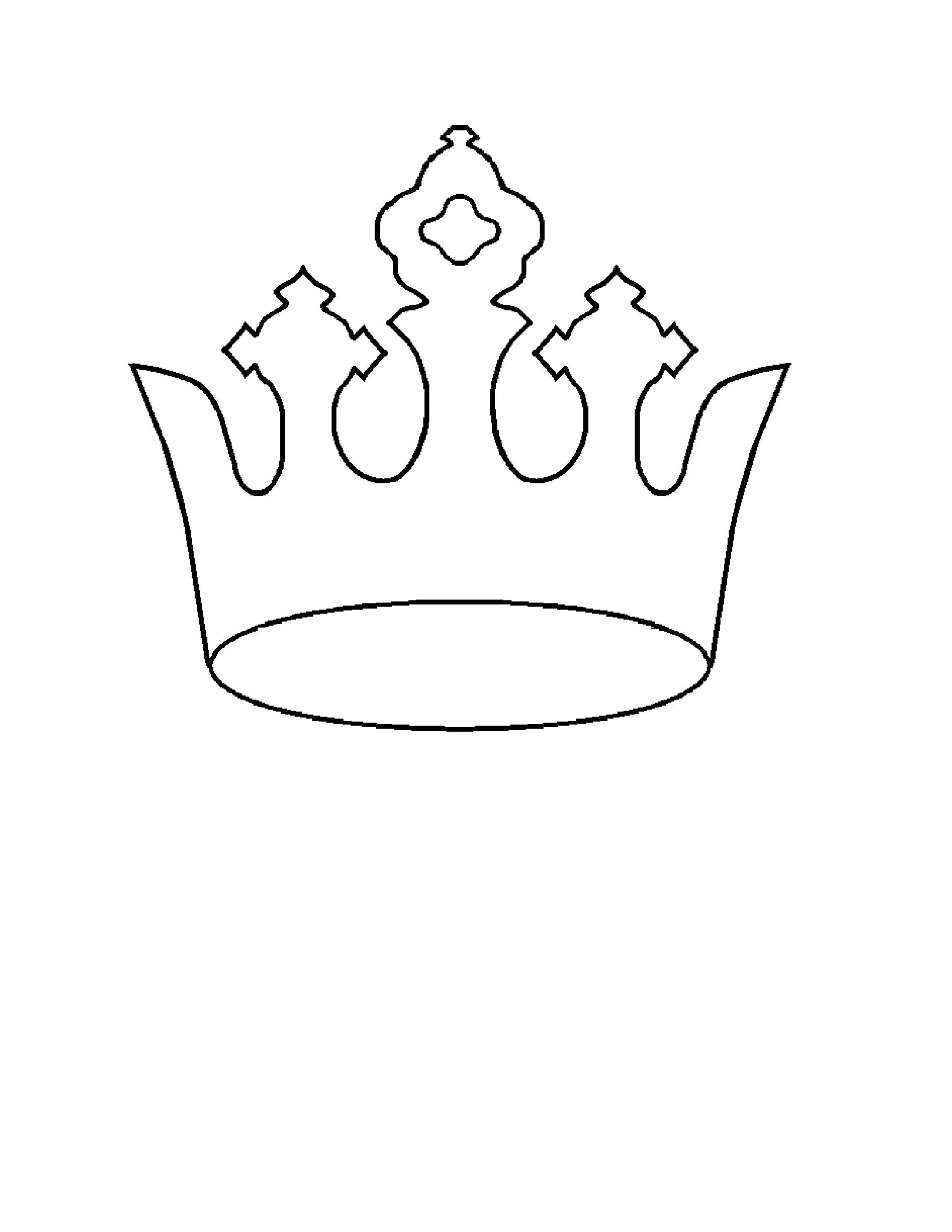 45 Free Paper Crown Templates - Template Lab - crown template