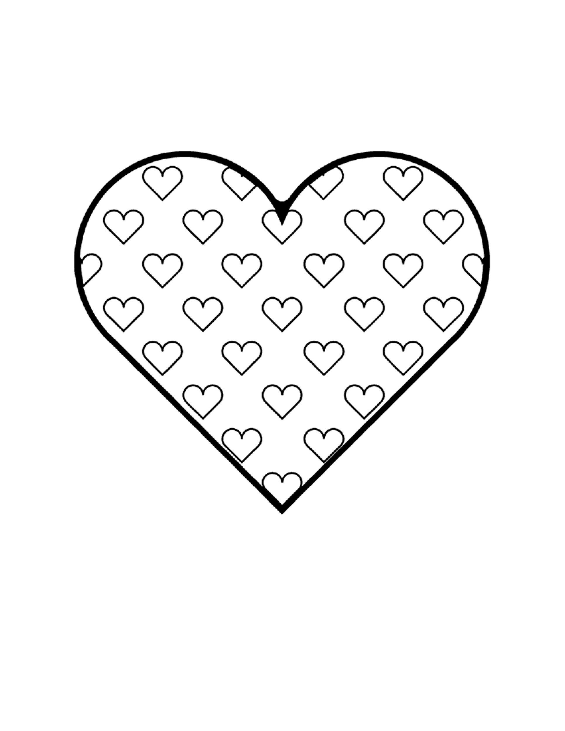 40 Printable Heart Templates  15 Usage Examples
