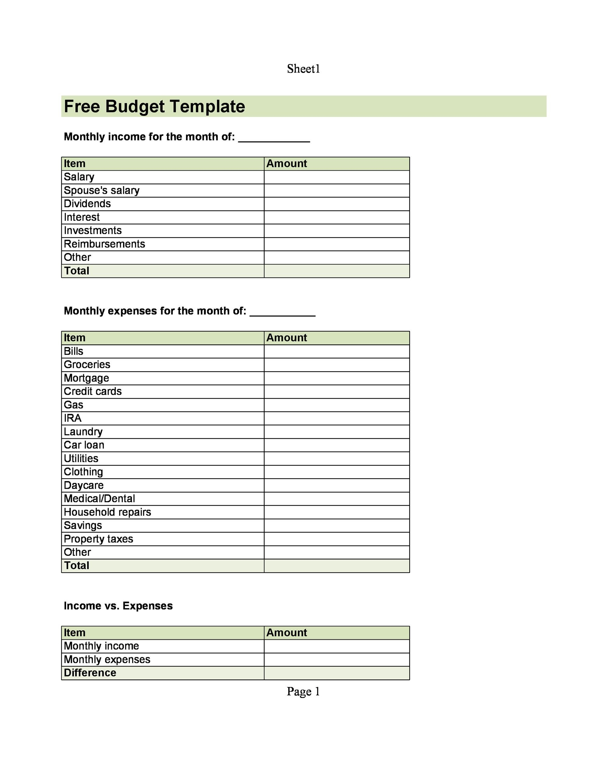 30+ Budget Templates  Budget Worksheets (Excel, PDF) - Template Lab - budget report template