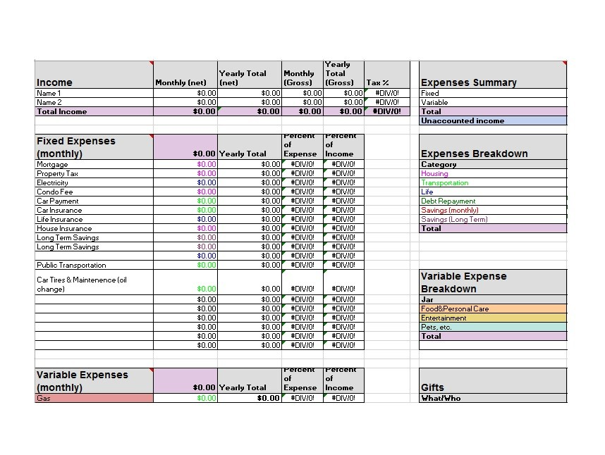 30+ Budget Templates  Budget Worksheets (Excel, PDF) ᐅ Template Lab