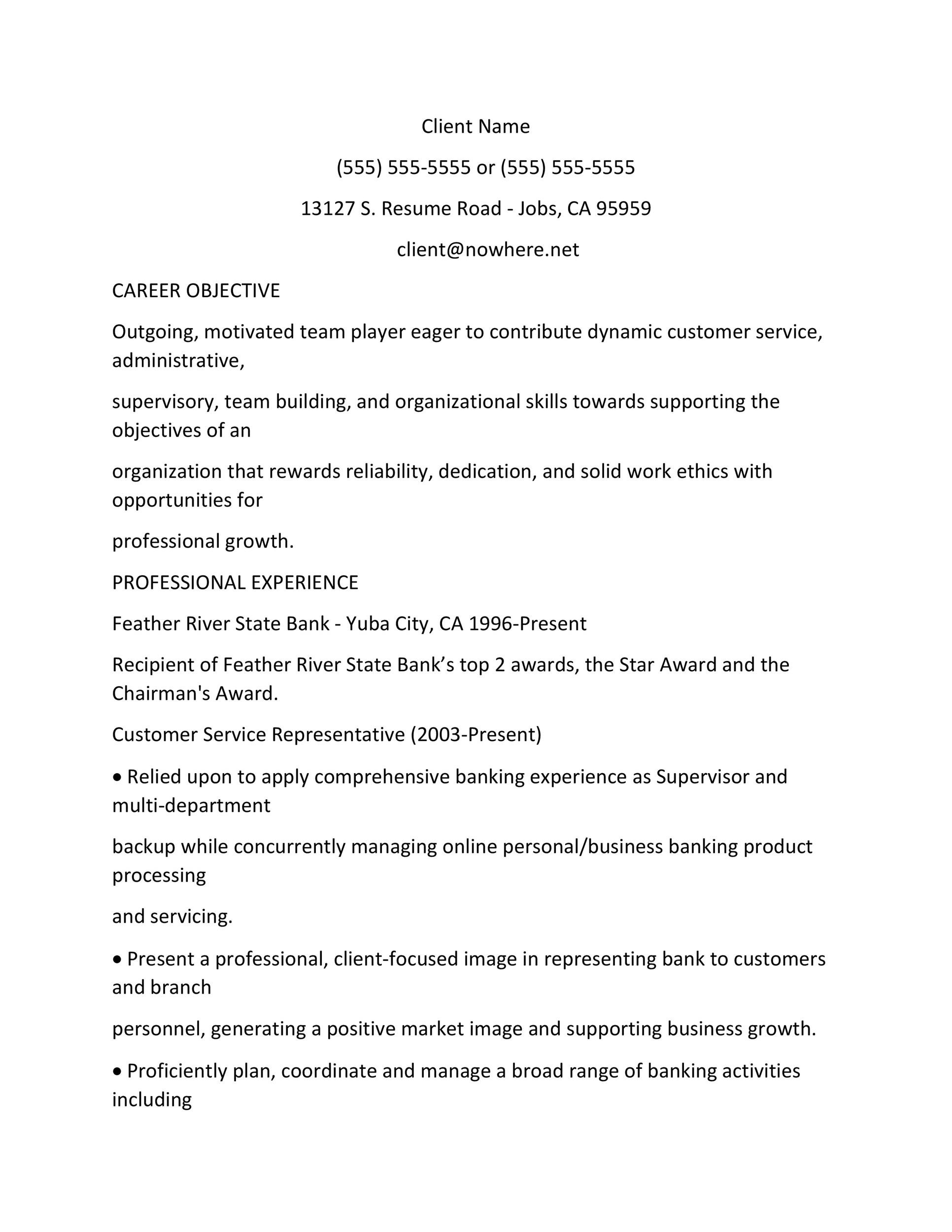 bank proof operator sample resume  free resume templates