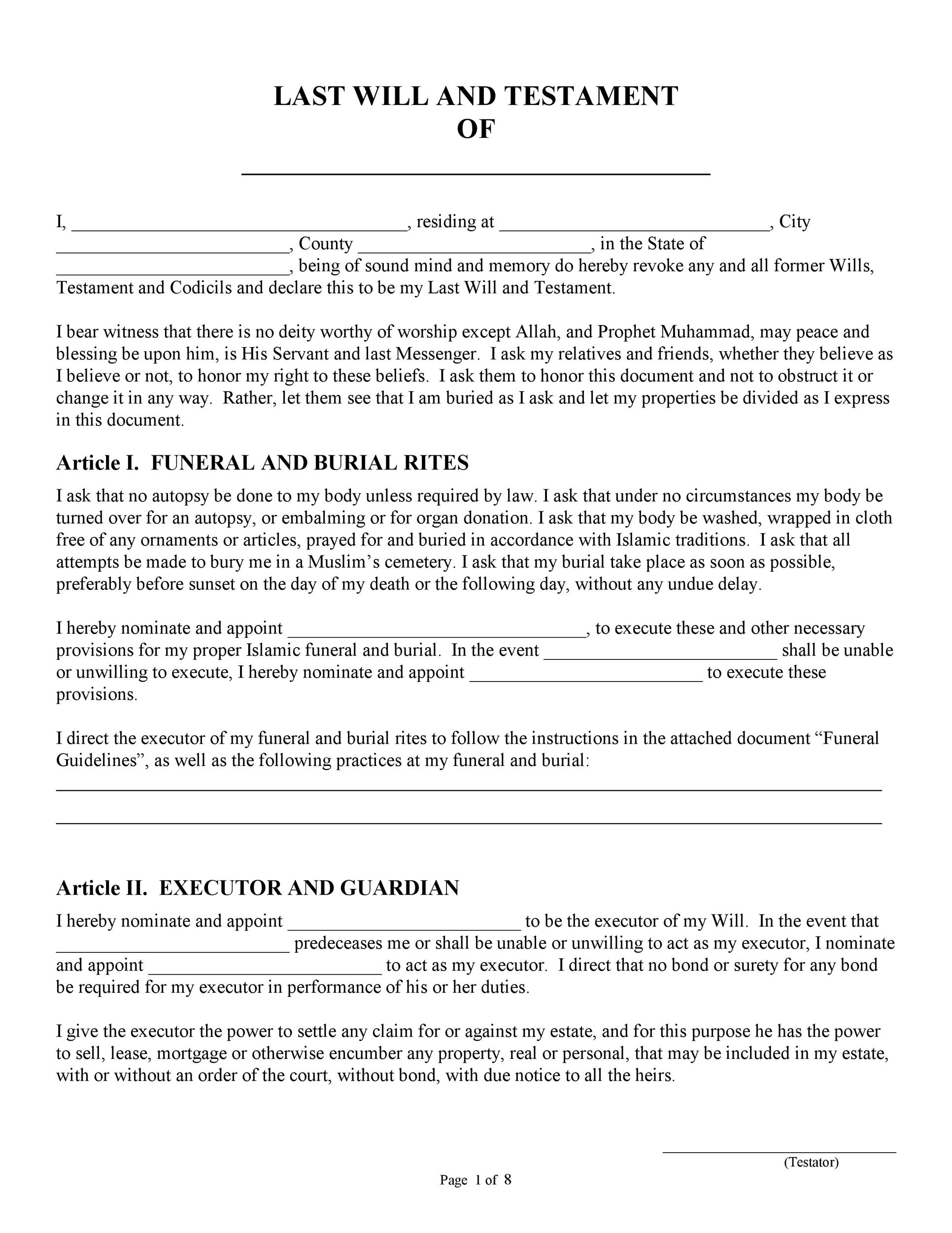 39 Last Will and Testament Forms  Templates - Template Lab
