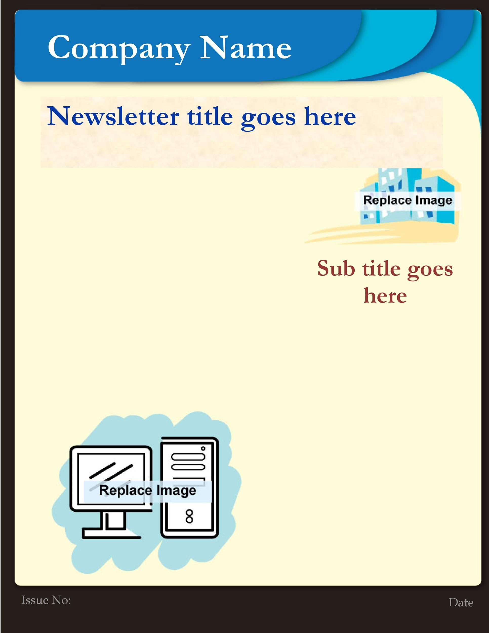 50 FREE Newsletter Templates for Work, School and Classroom - company newsletter template free