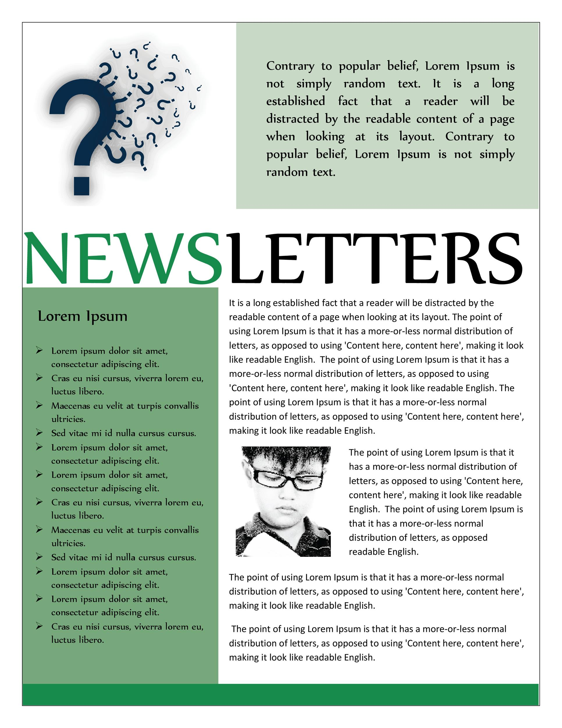 50 FREE Newsletter Templates for Work, School and Classroom