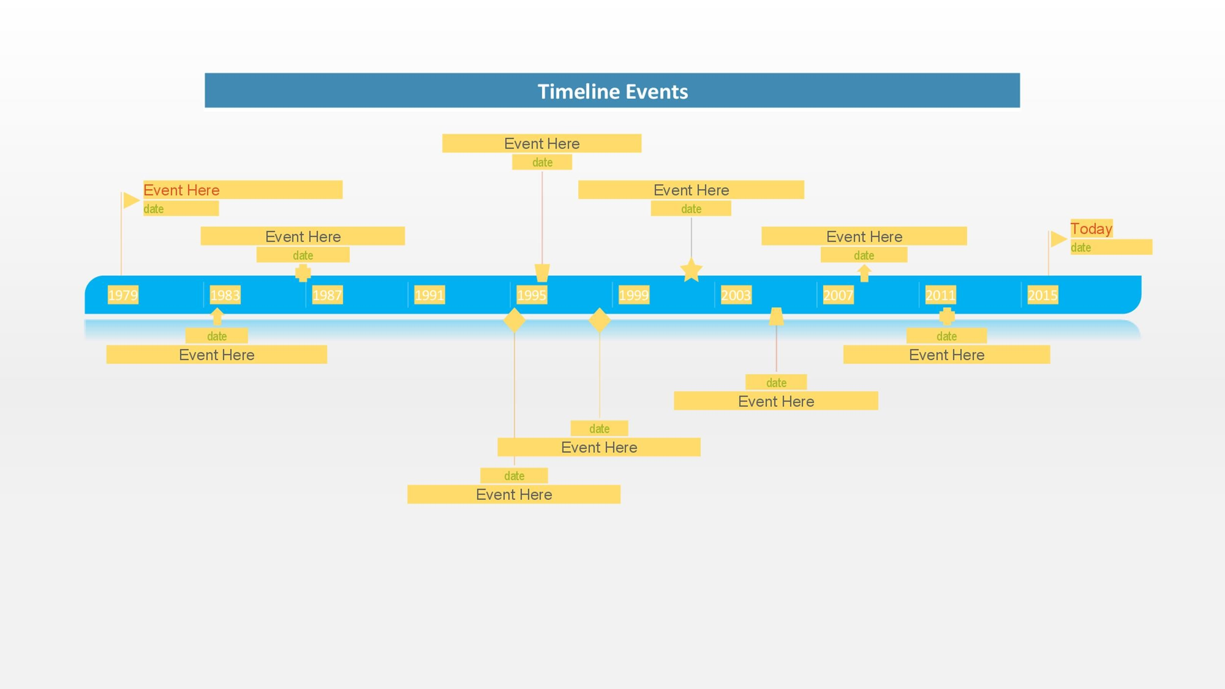 30+ Timeline Templates (Excel, Power Point, Word) - Template Lab - event timeline