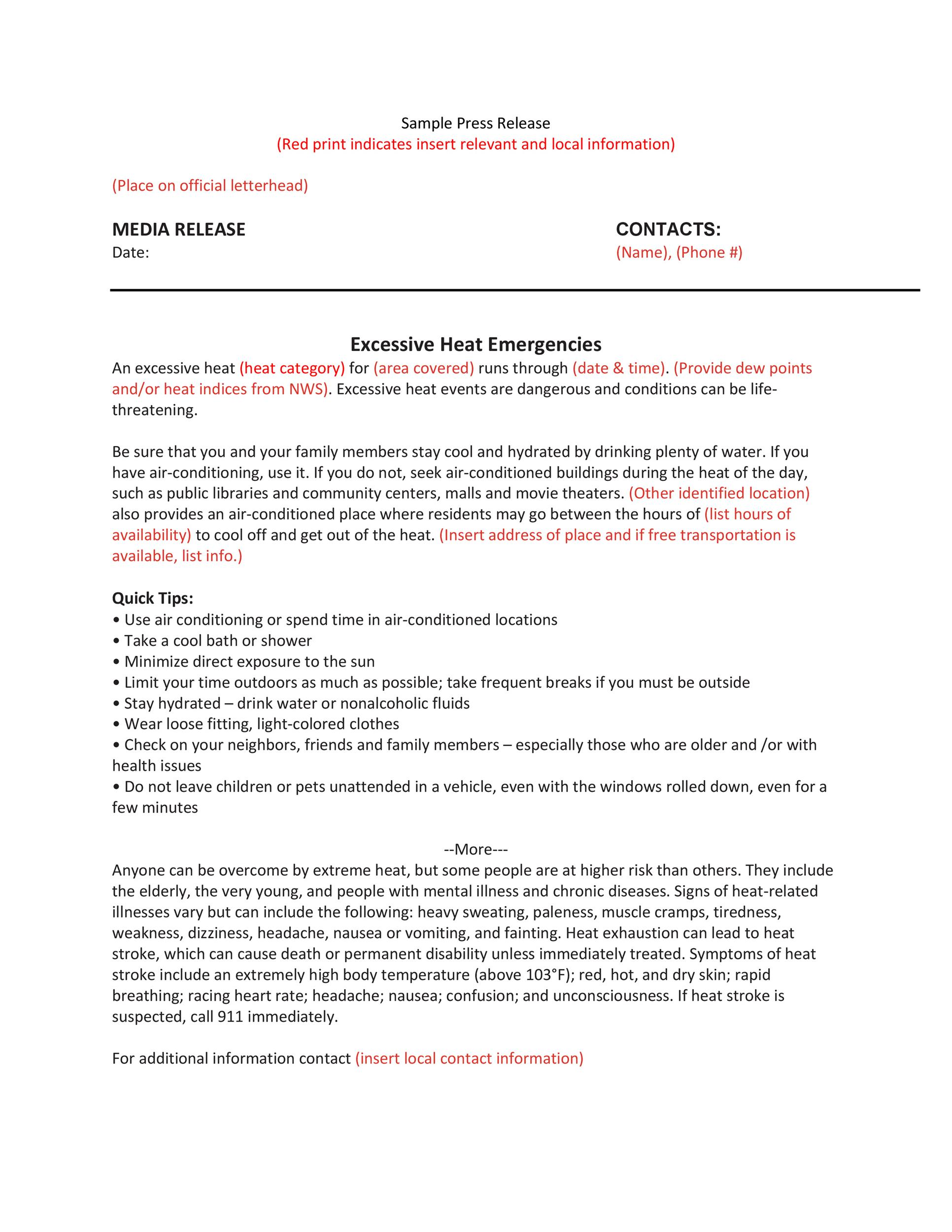 Press Release Template 46 Press Release Format Templates Examples Samples ᐅ Template Lab
