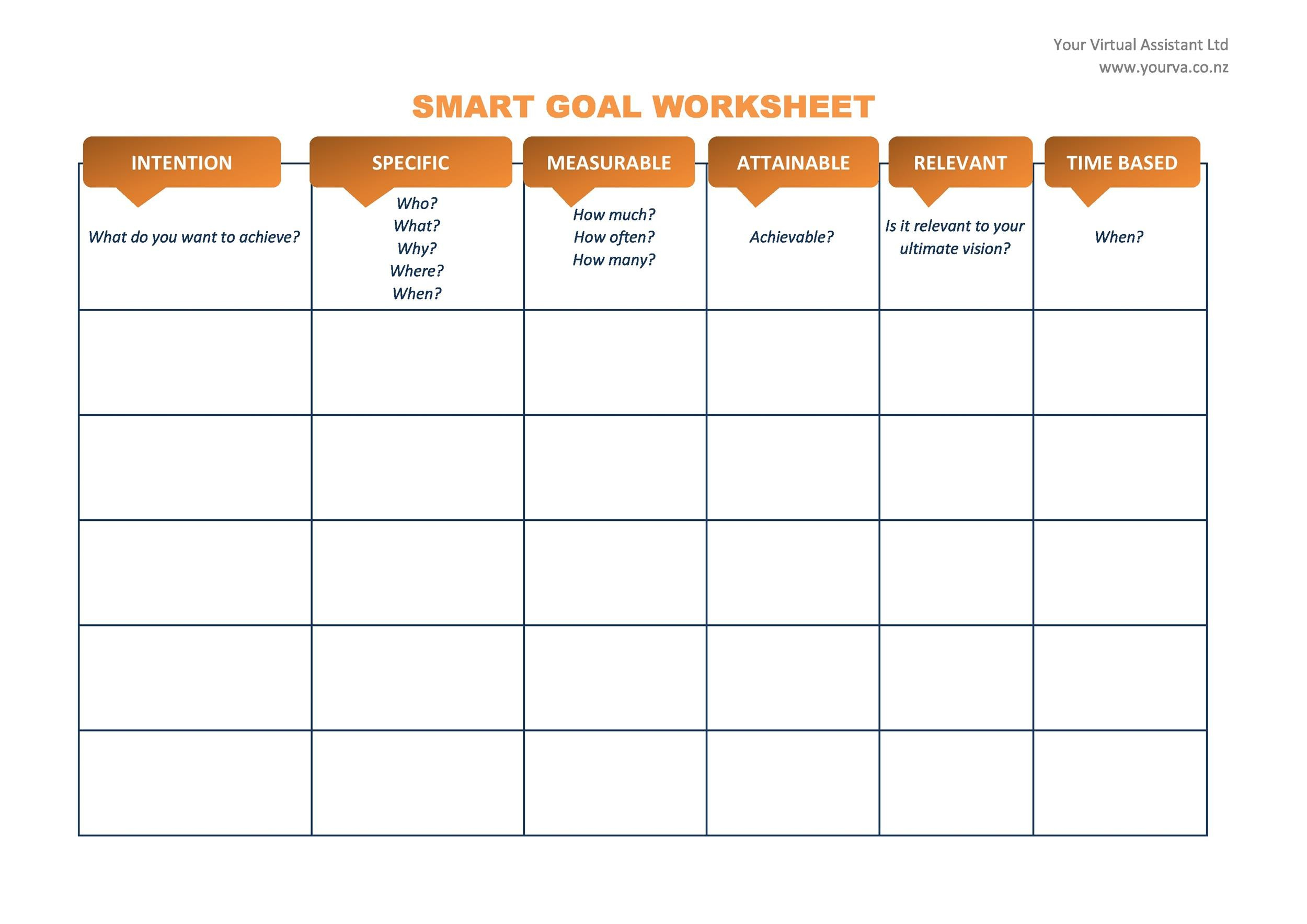 48 SMART Goals Templates, Examples  Worksheets - Template Lab