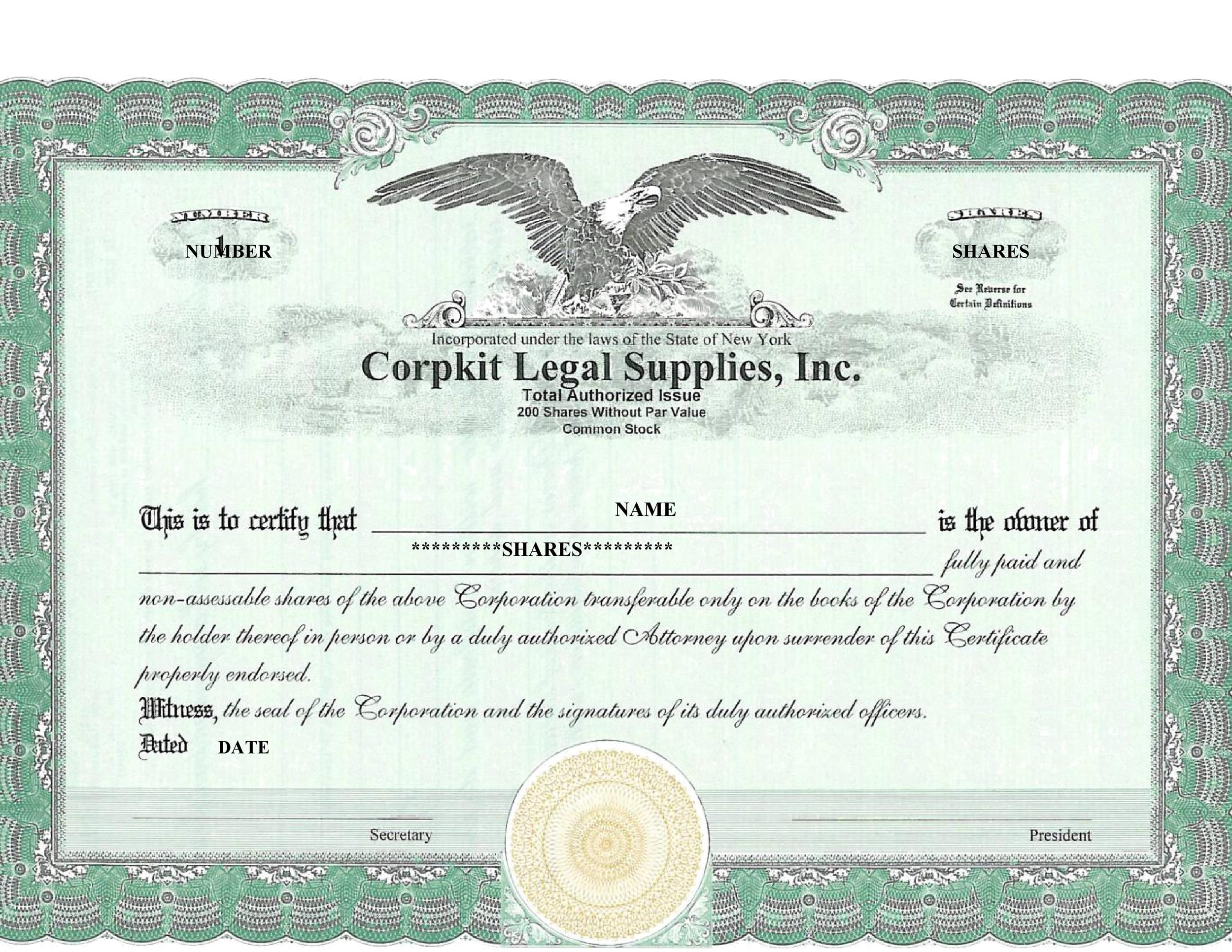 40+ Free Stock Certificate Templates (Word, PDF) - Template Lab - blank stock certificate template