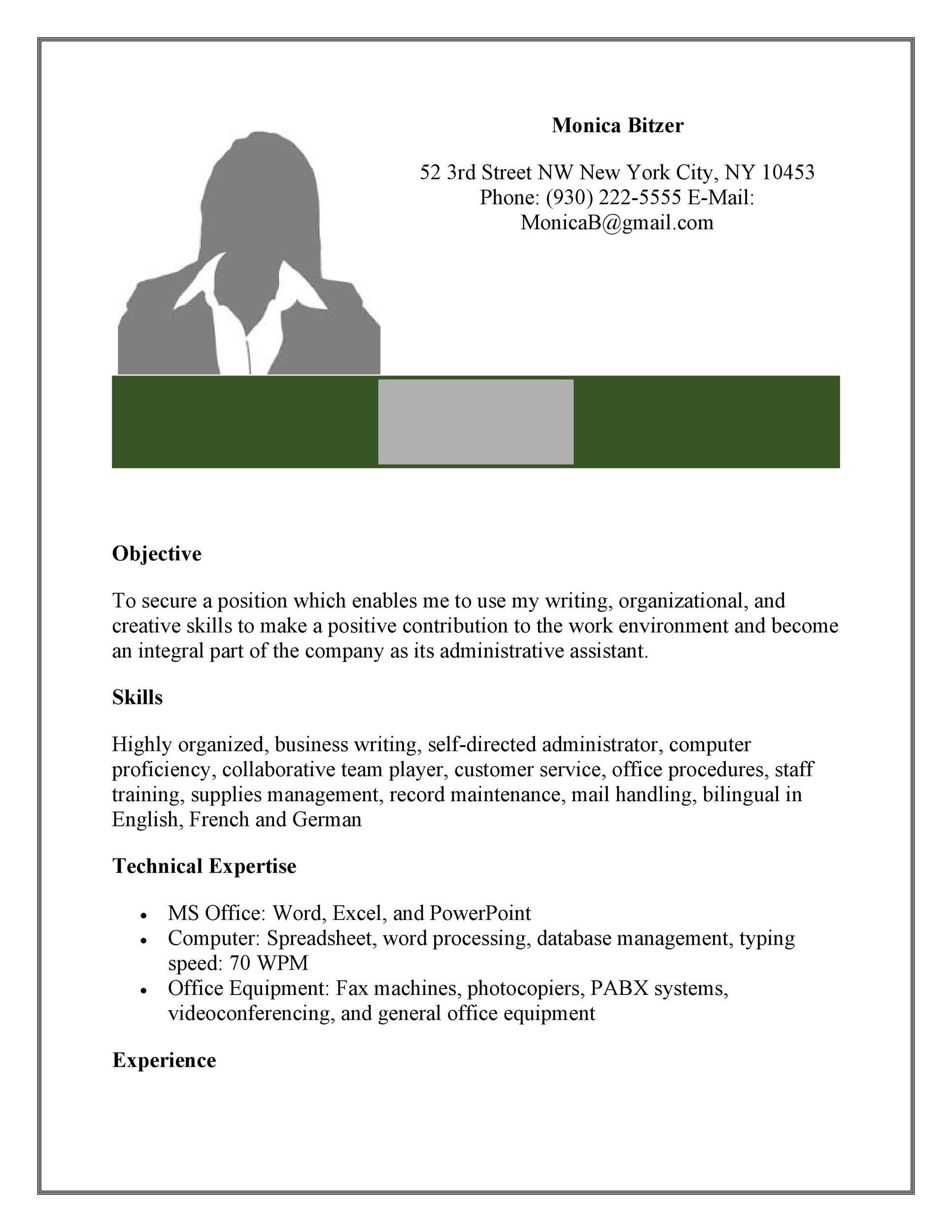 office assistant resume free medical for sample administrative