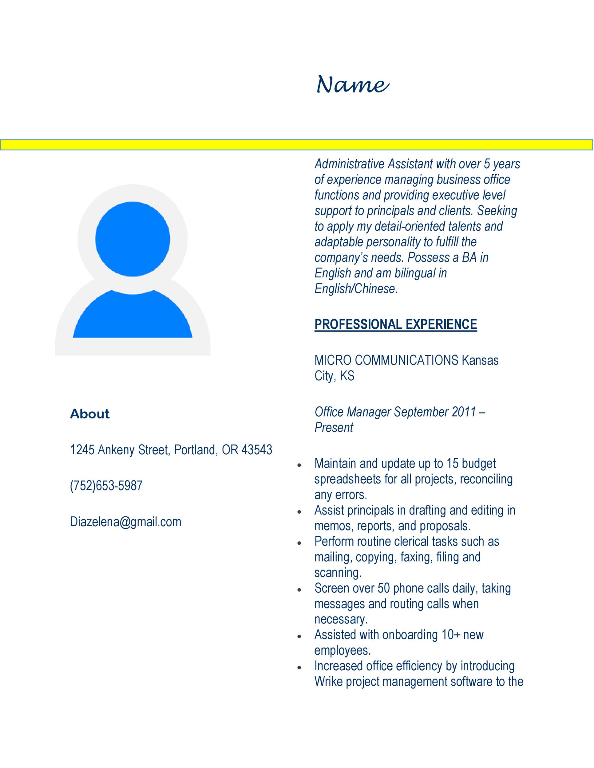 20+ Free Administrative Assistant Resume Samples - Template Lab - messaging administrator sample resume