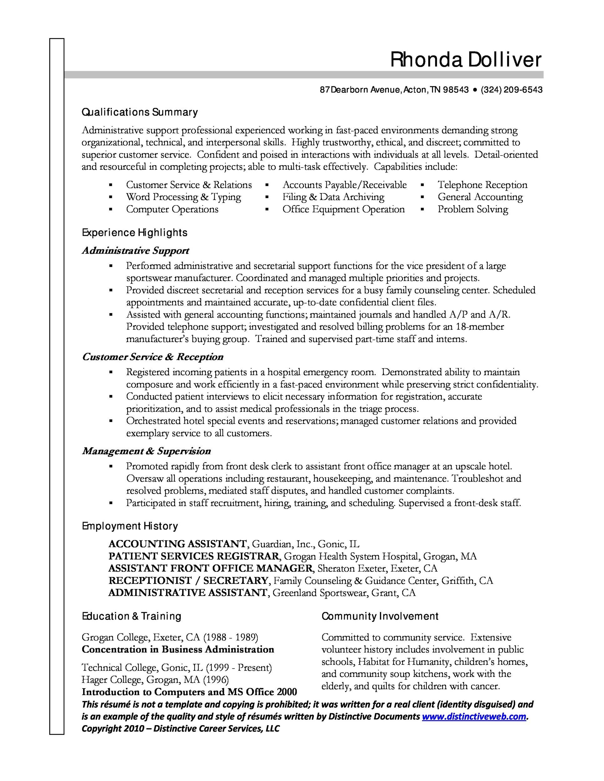 nursing secretary resume development essay history international - admin assistant resume