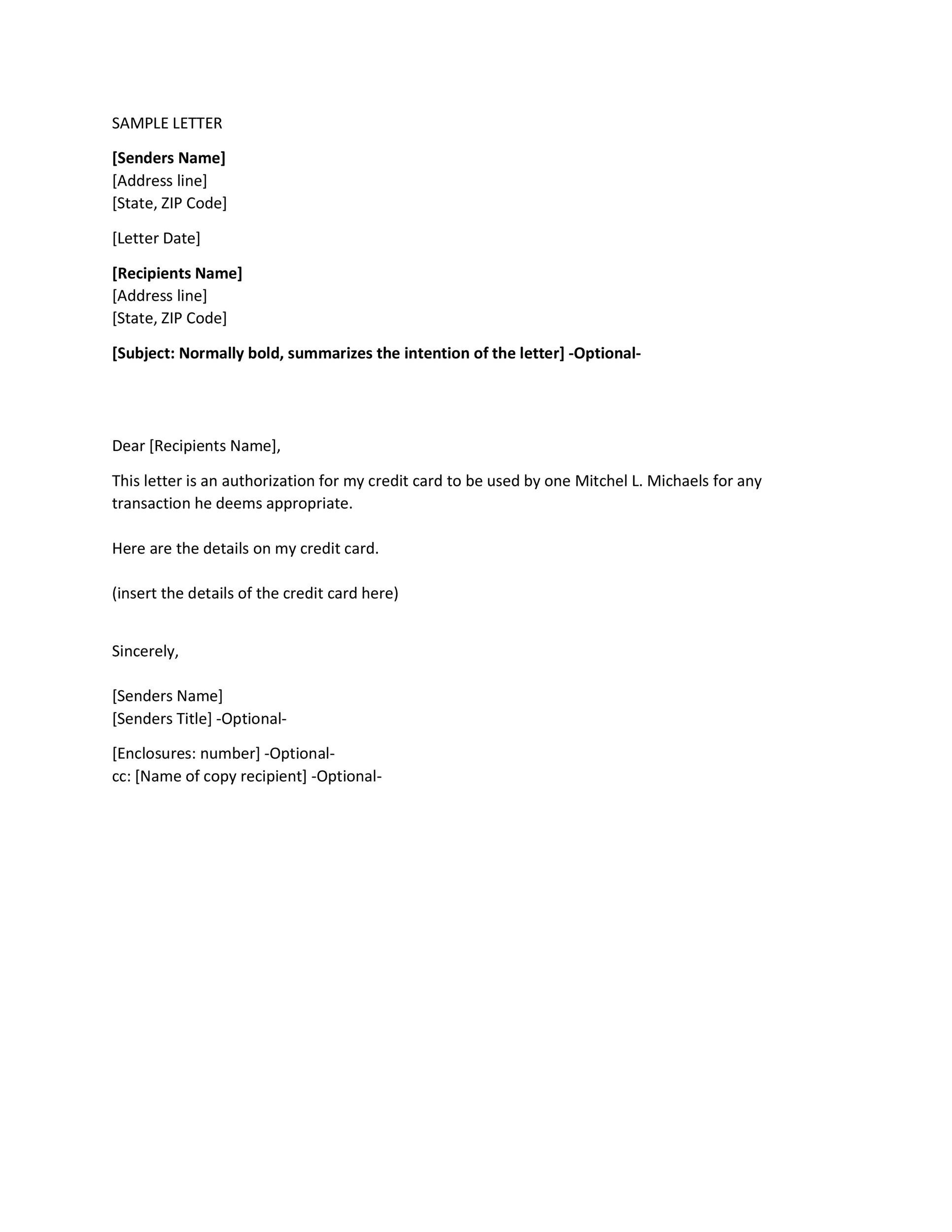 46 Authorization Letter Samples  Templates - Template Lab - sample authorization letter