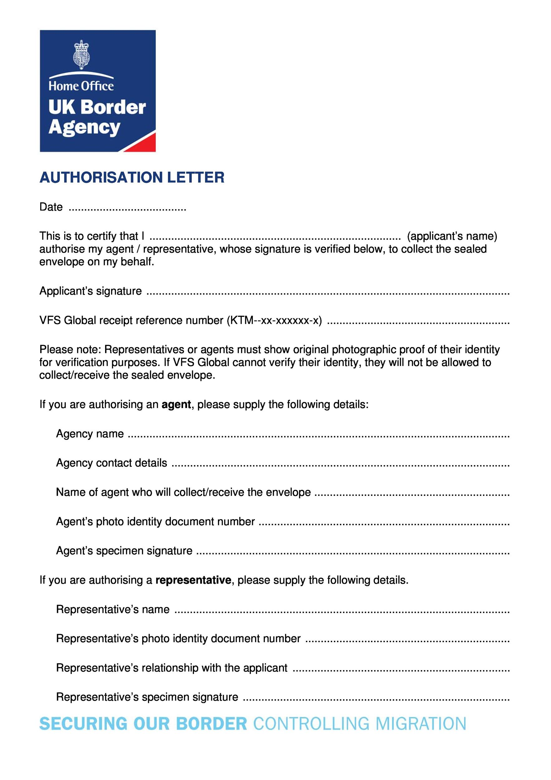 46 Authorization Letter Samples  Templates - Template Lab