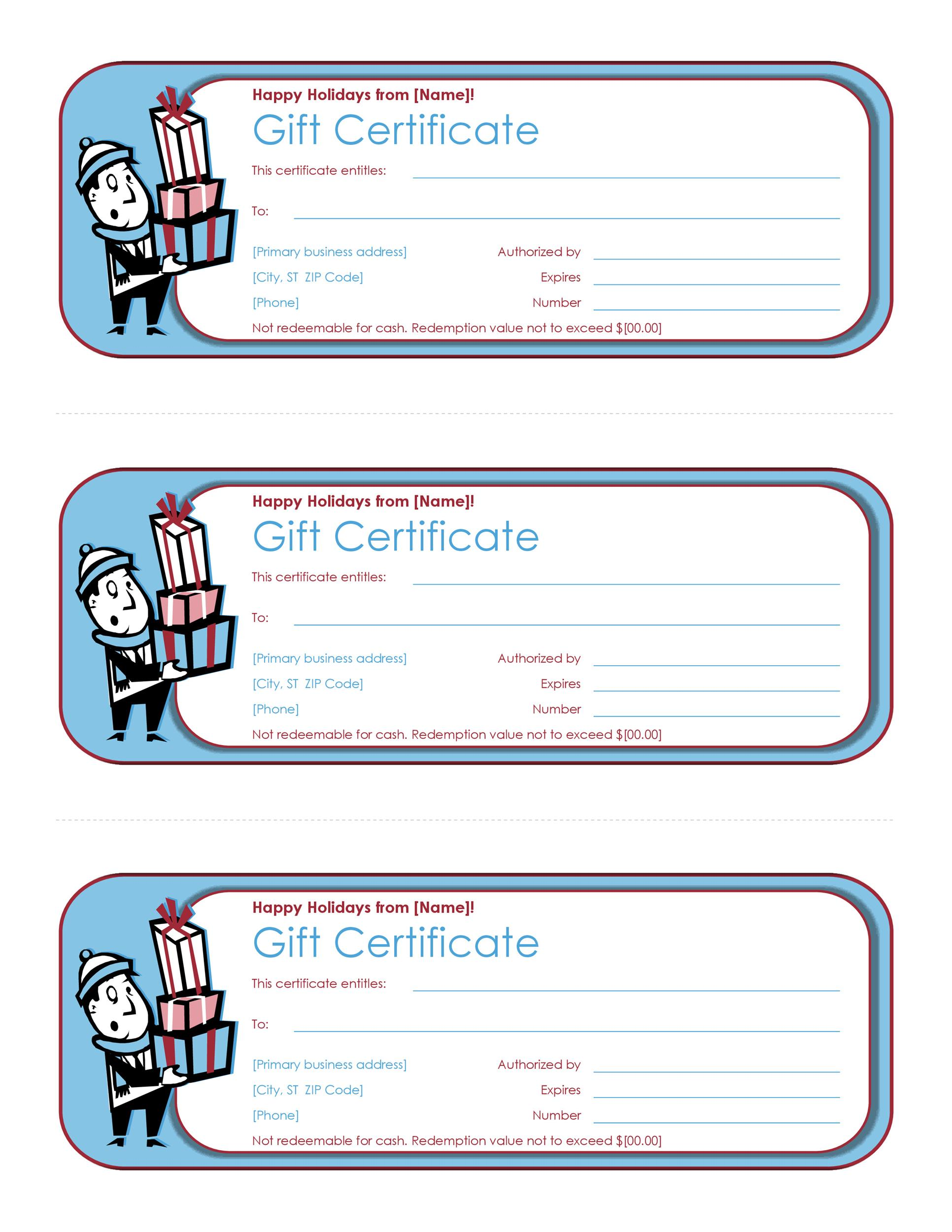 40+ Free Gift Certificate Templates - Template Lab - business gift certificate template free