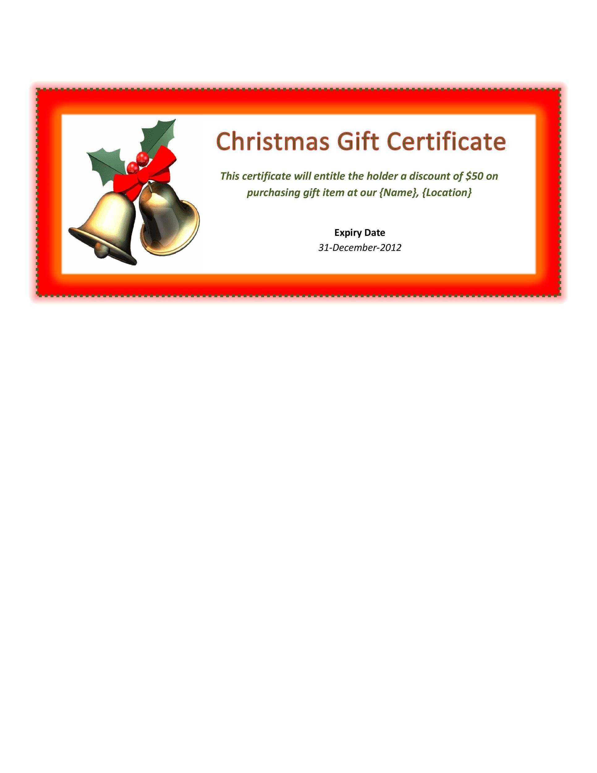 40+ Free Gift Certificate Templates - Template Lab - gift certifcate template
