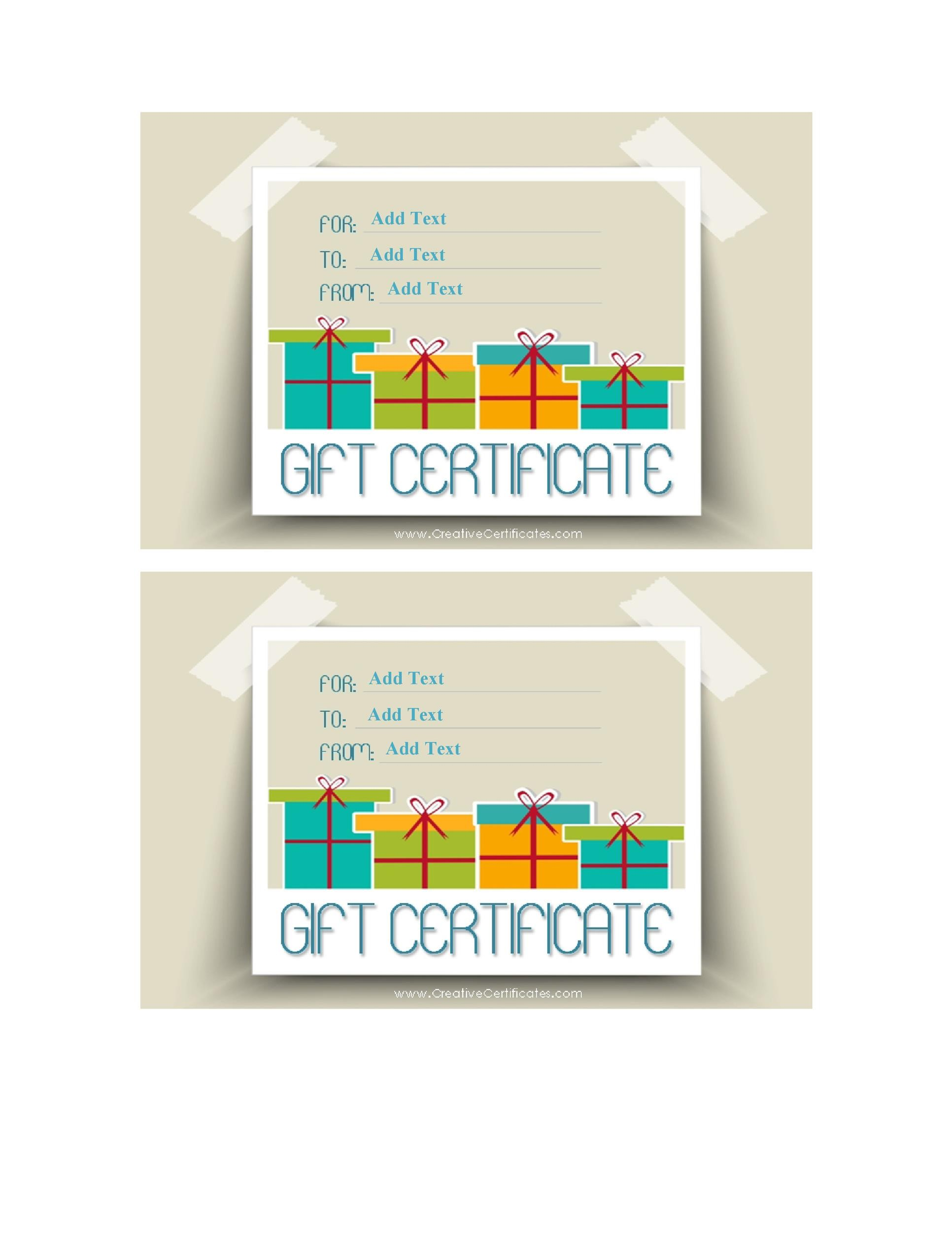 40+ Free Gift Certificate Templates - Template Lab - free template for gift certificate