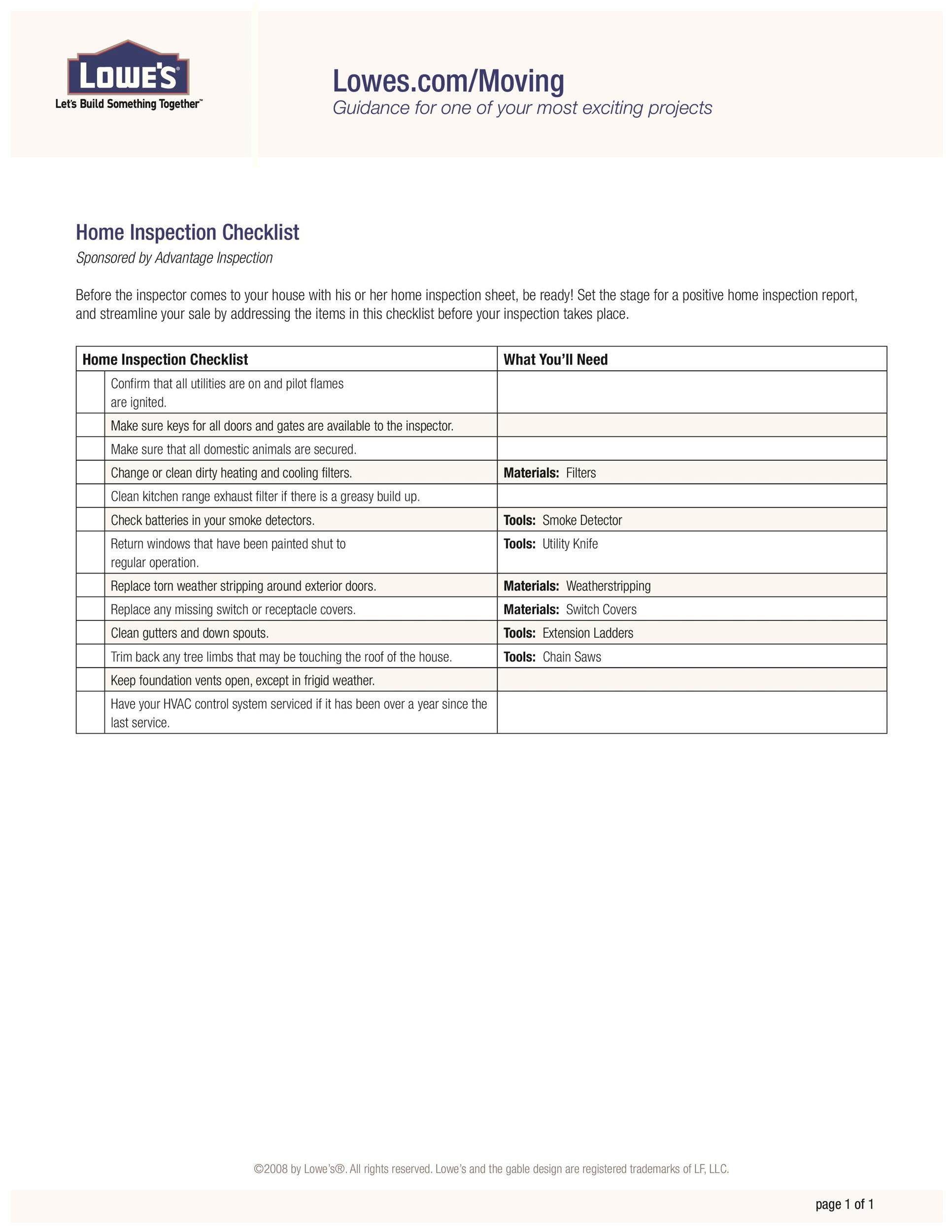 presale home inspection checklist - Ozilalmanoof