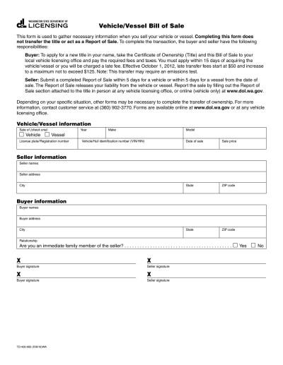 45+ Fee Printable Bill of Sale Templates (Car, Boat, Gun, Vehicle...) ᐅ Template Lab