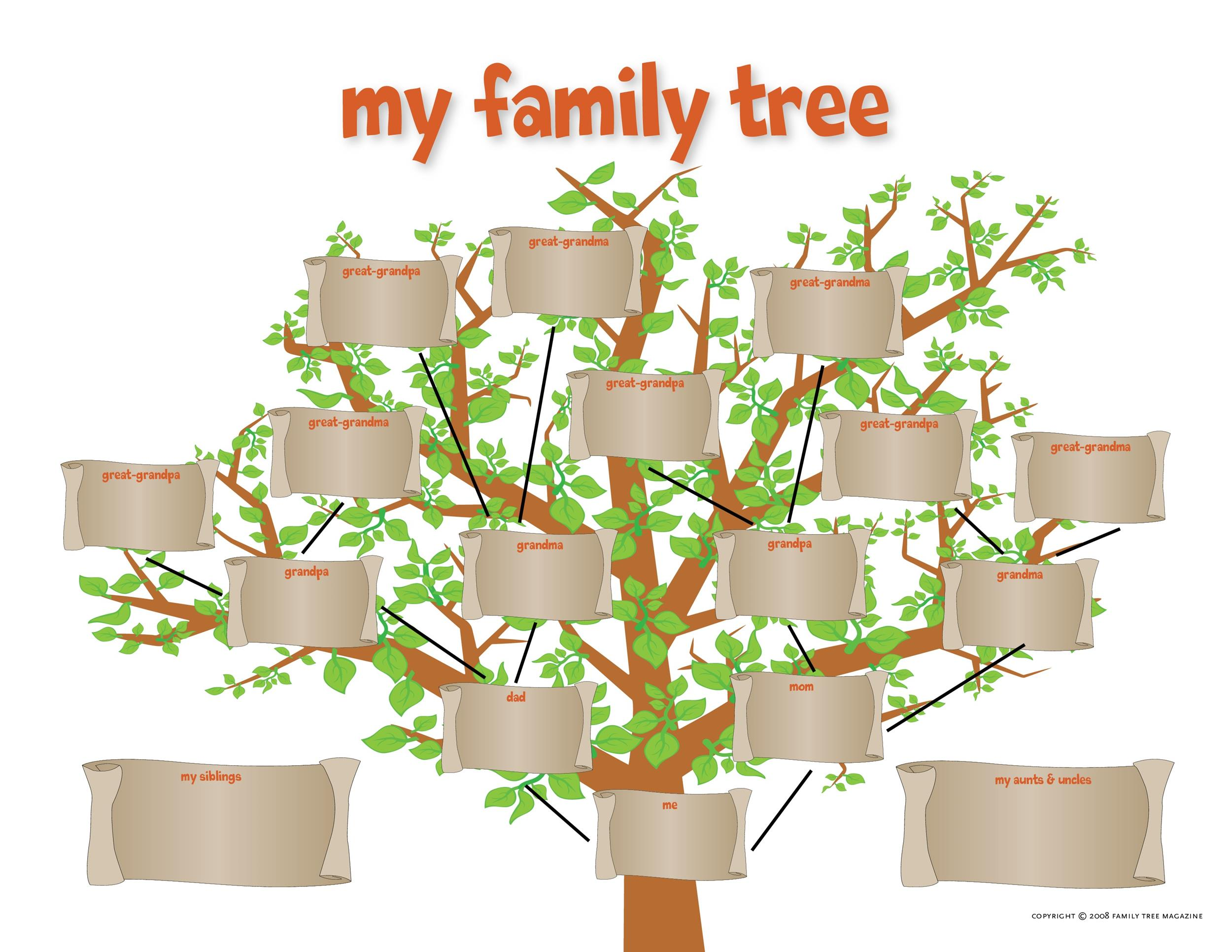 50+ Free Family Tree Templates (Word, Excel, PDF) ᐅ Template Lab