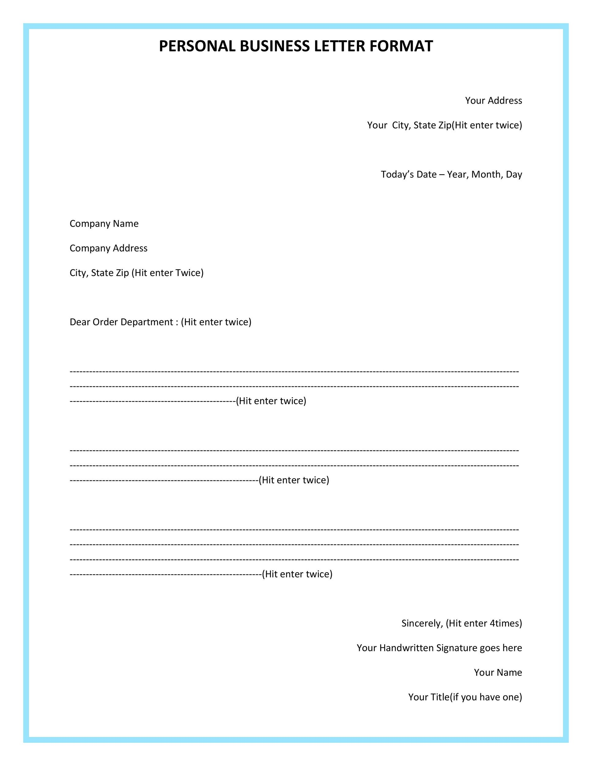 business form letter example