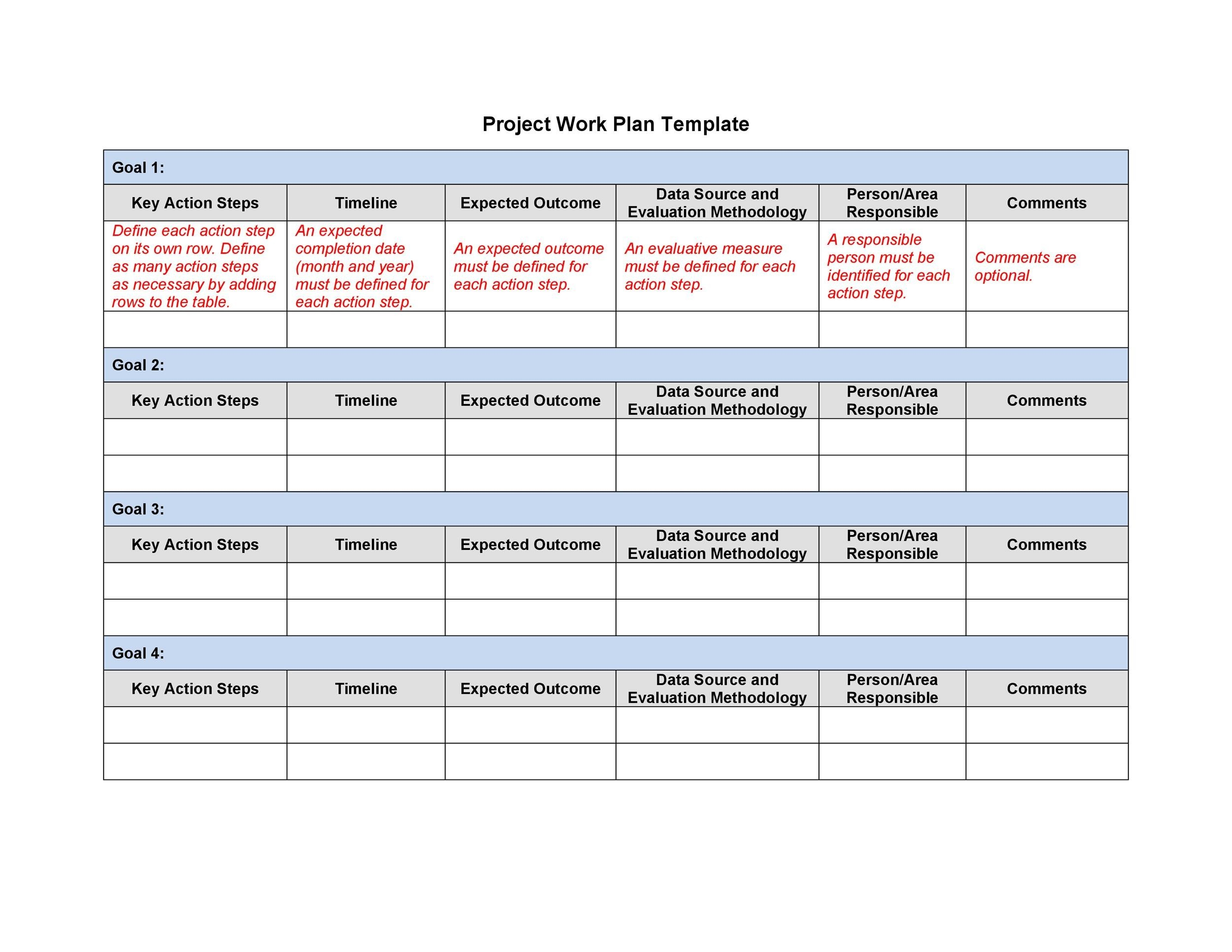 48 Professional Project Plan Templates Excel, Word, PDF - Template Lab