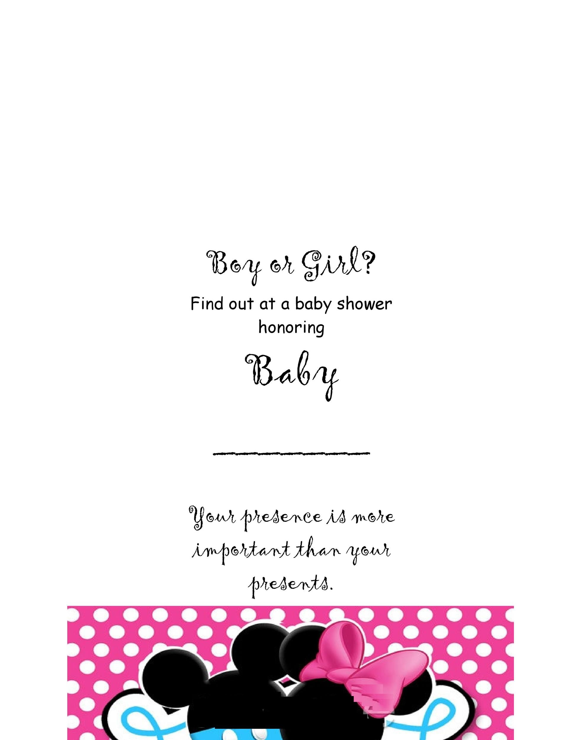 17 Free Gender Reveal Invitation Templates - Template Lab - free template invitation