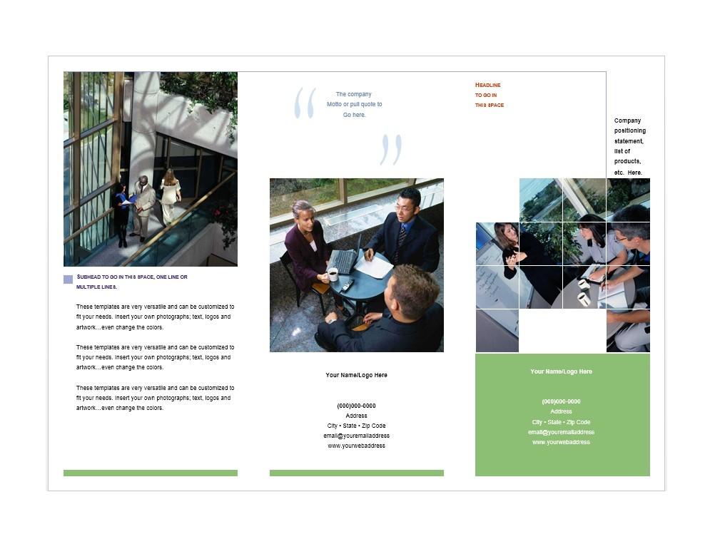 31 FREE Brochure Templates (Word + PDF) - Template Lab - company brochure templates