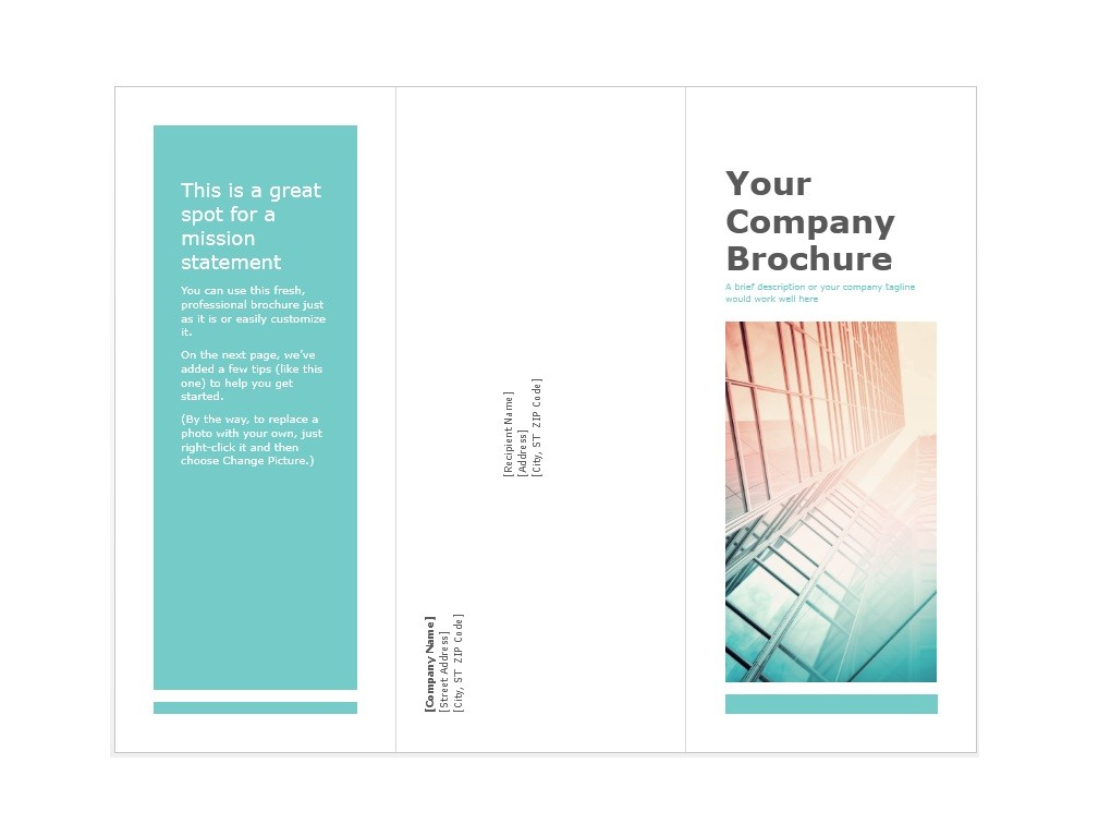 31 FREE Brochure Templates (Word + PDF) - Template Lab - phamplet template