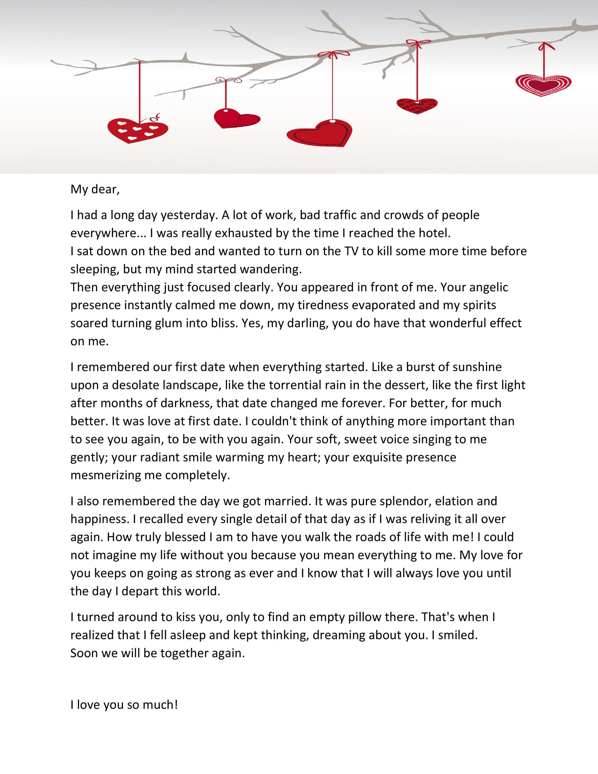 45 ♥ Romantic Love Letters for Her  for Him ♥ - love letter template for him