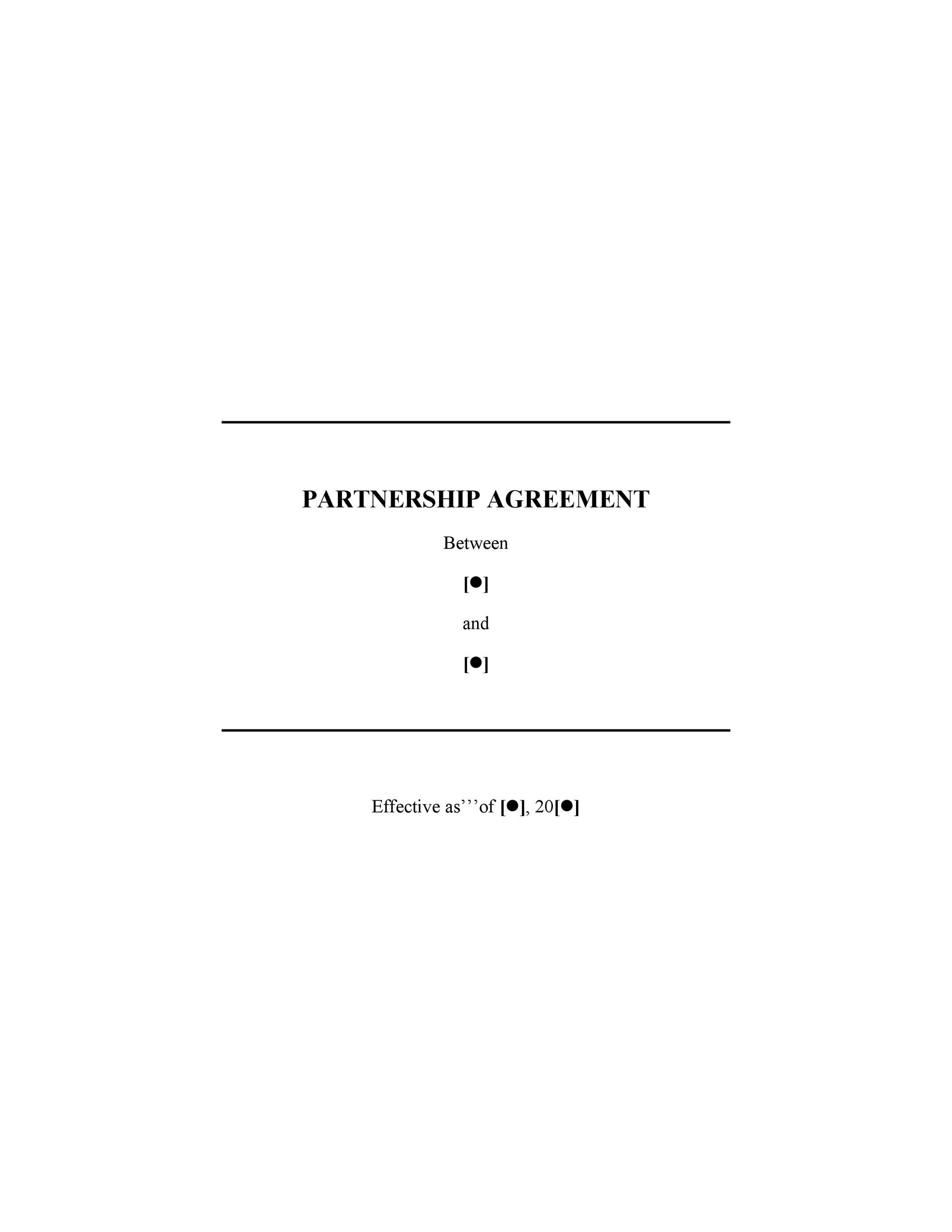 40+ FREE Partnership Agreement Templates (Business, General) - Business Partnership Agreement Template