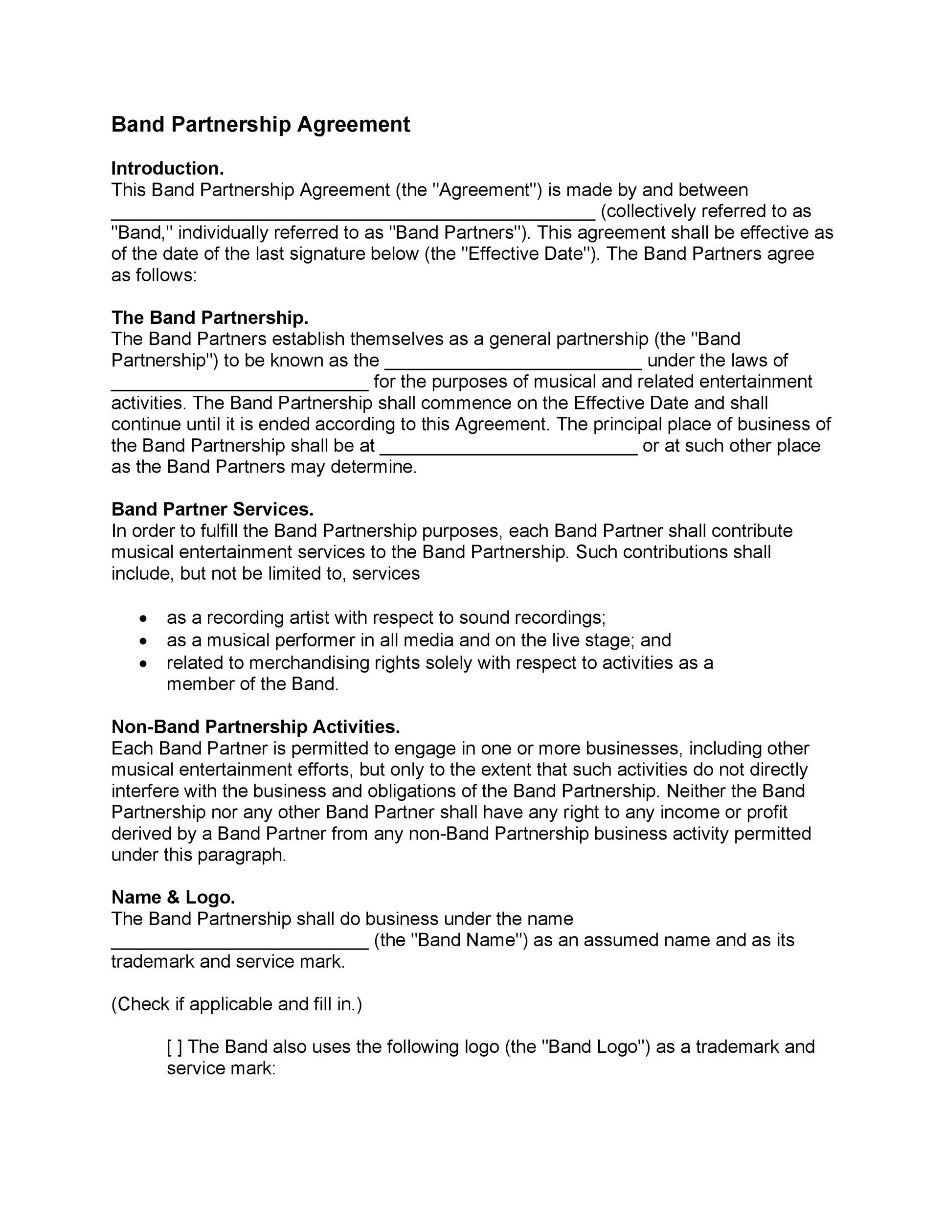 40+ FREE Partnership Agreement Templates (Business, General) - partenership agreement