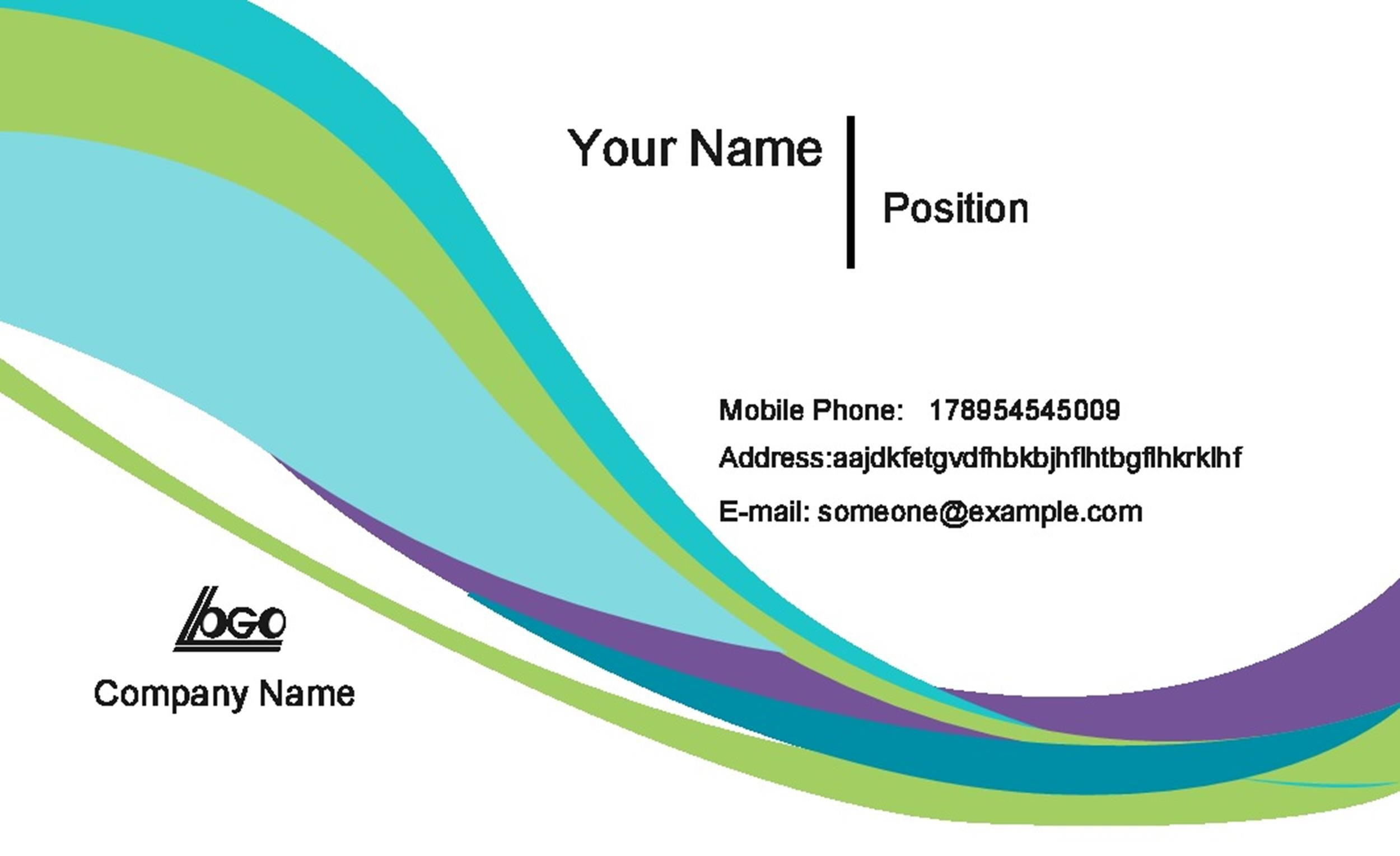 40+ Free Business Card Templates - Template Lab - name card example