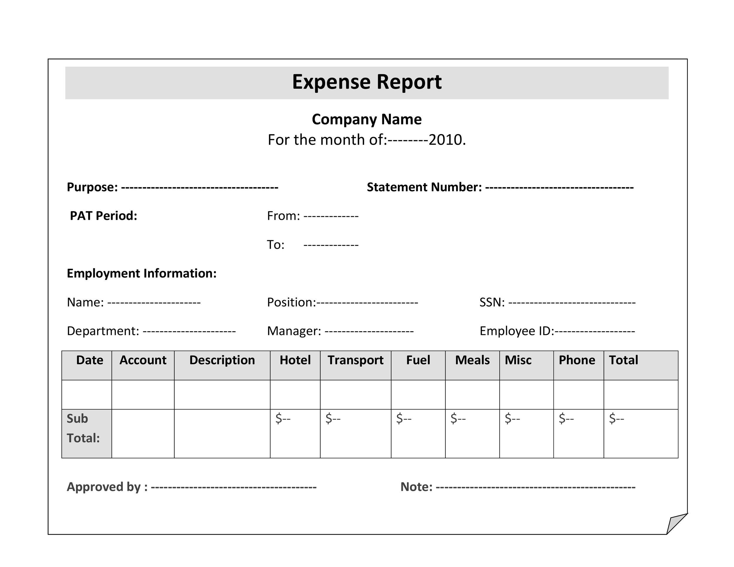 40+ Expense Report Templates to Help you Save Money - Template Lab