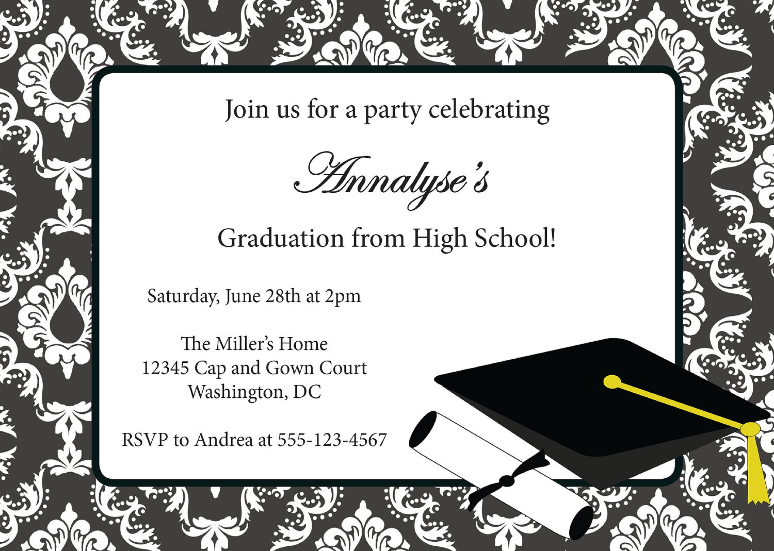 40+ FREE Graduation Invitation Templates - Template Lab - graduation invitation template