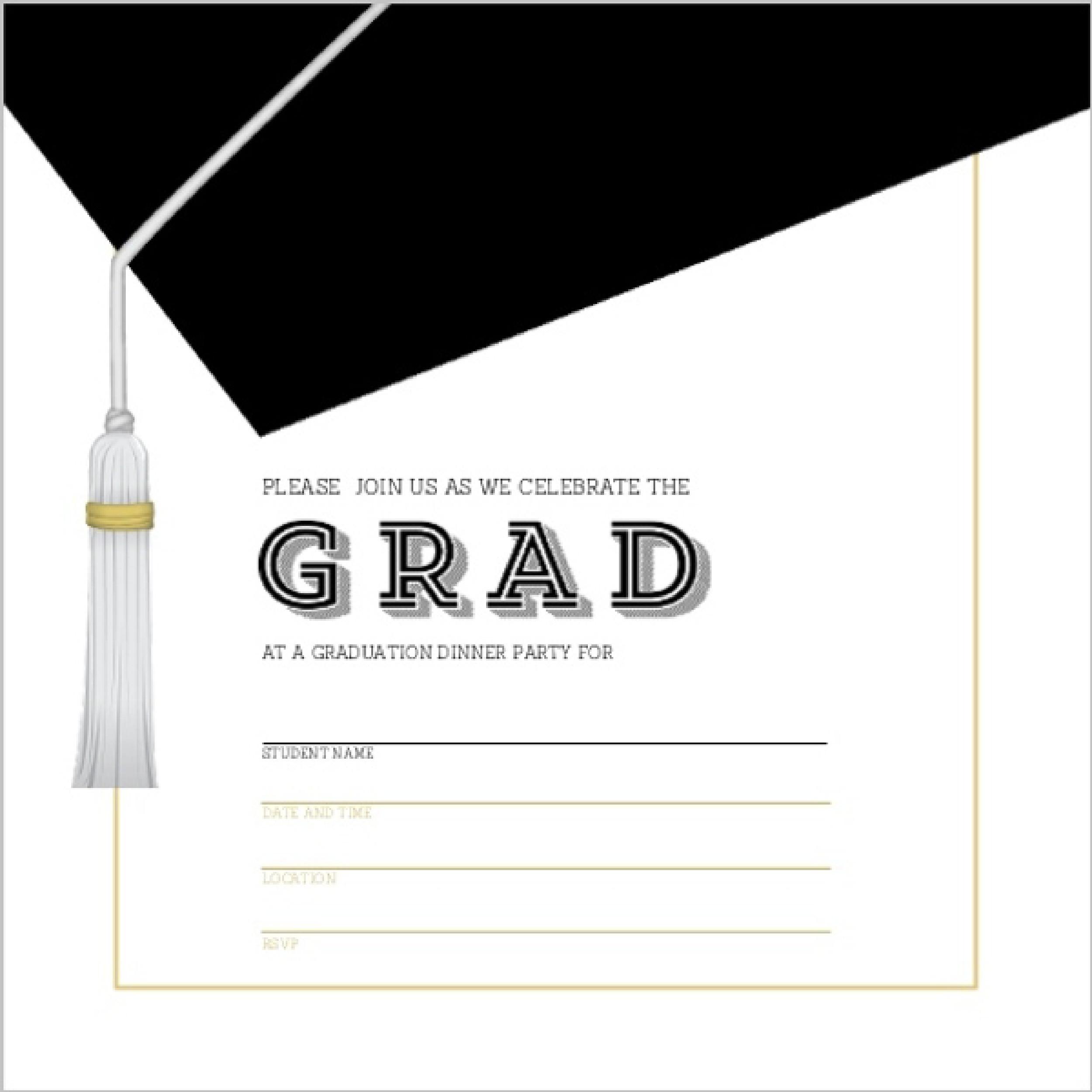 Fullsize Of Graduation Invitation Templates