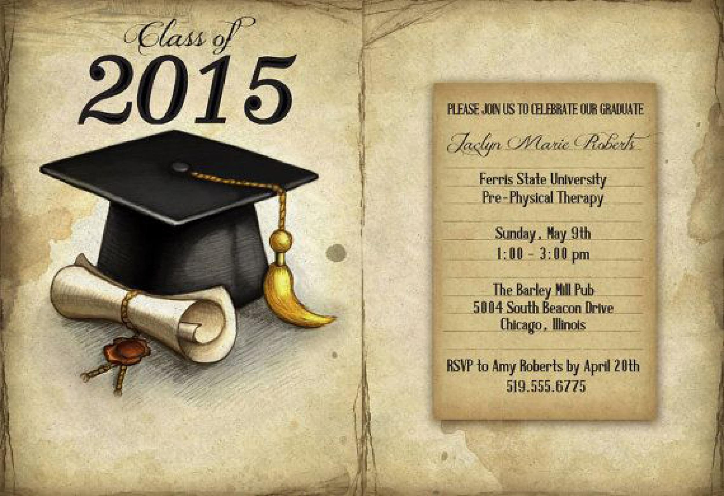 40+ FREE Graduation Invitation Templates - Template Lab