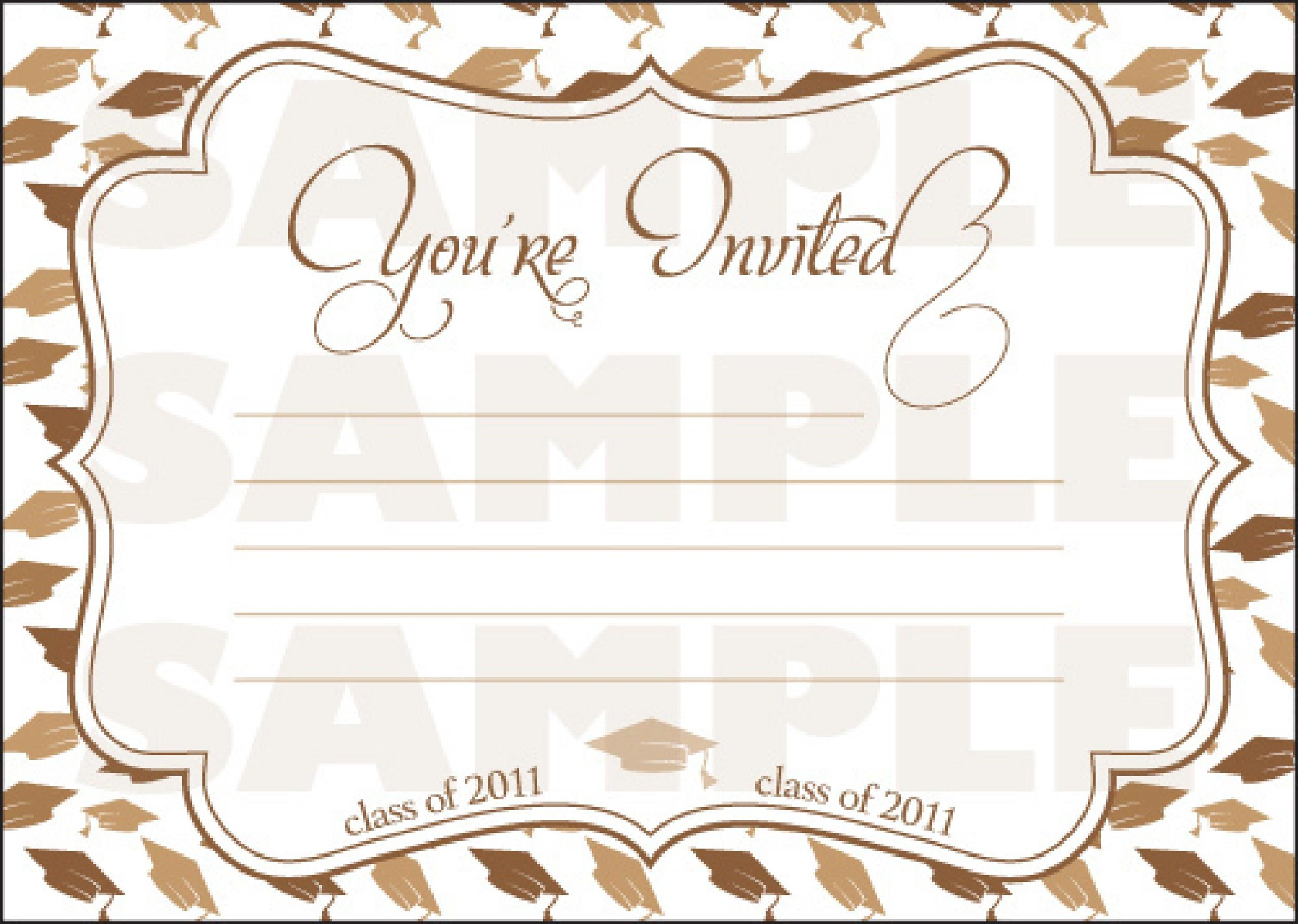 40+ FREE Graduation Invitation Templates - Template Lab - Invitations Templates