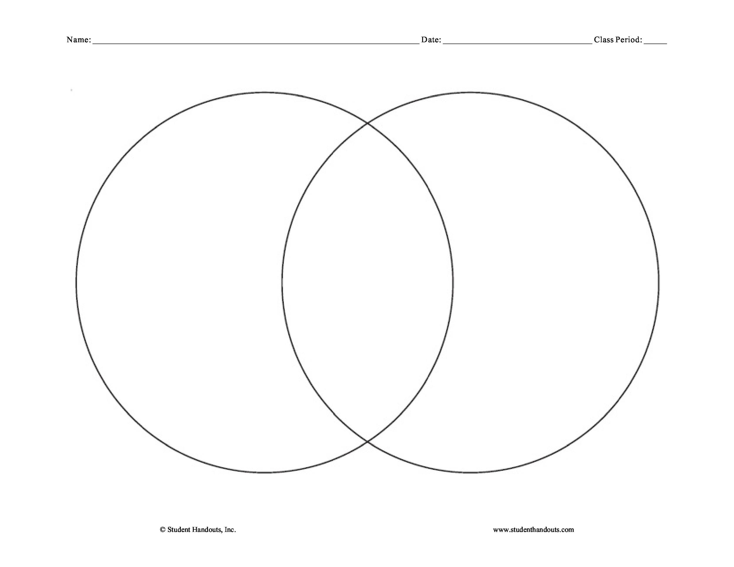 40+ Free Venn Diagram Templates (Word, PDF) - Template Lab - circle template
