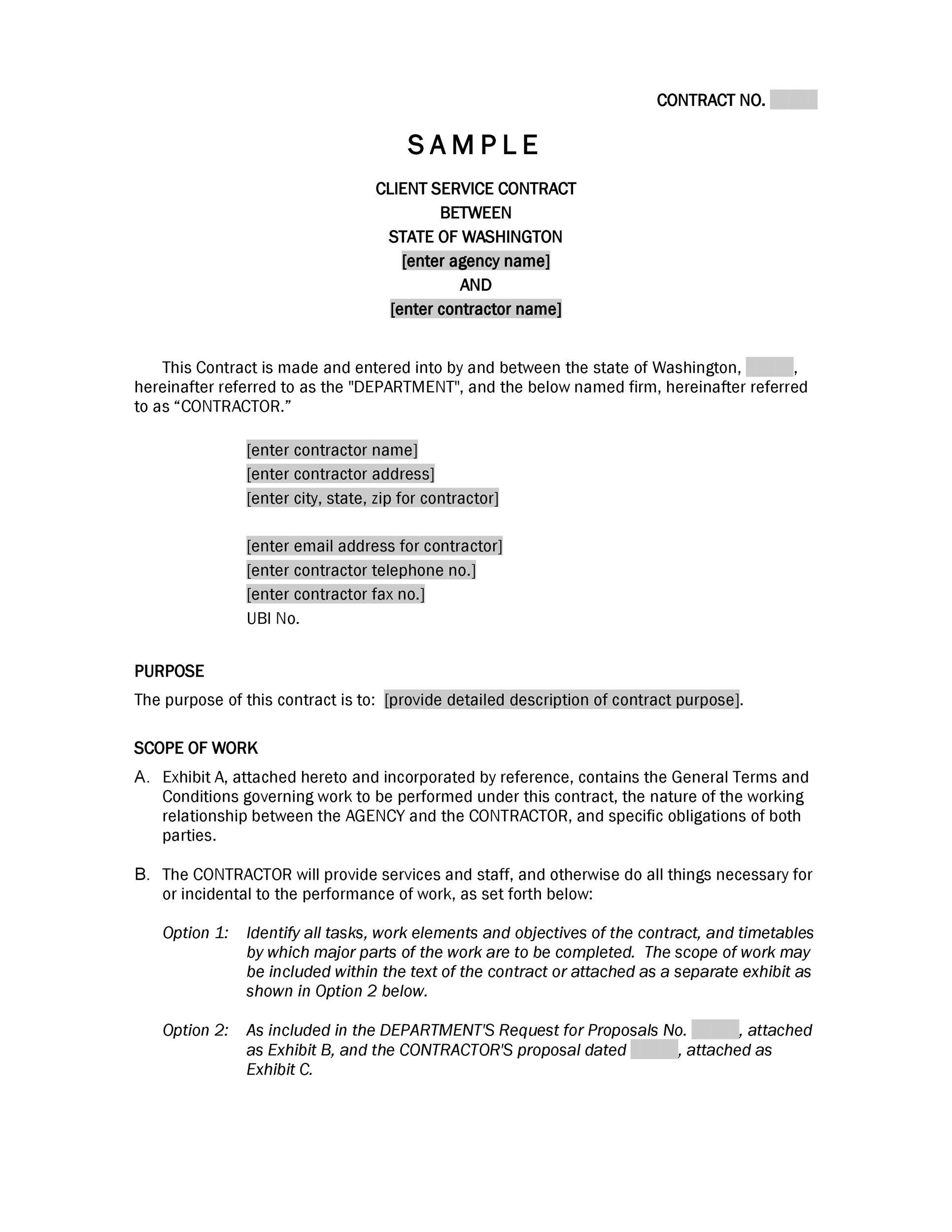 40 Great Contract Templates (Employment, Construction, Photography - proposal contract template