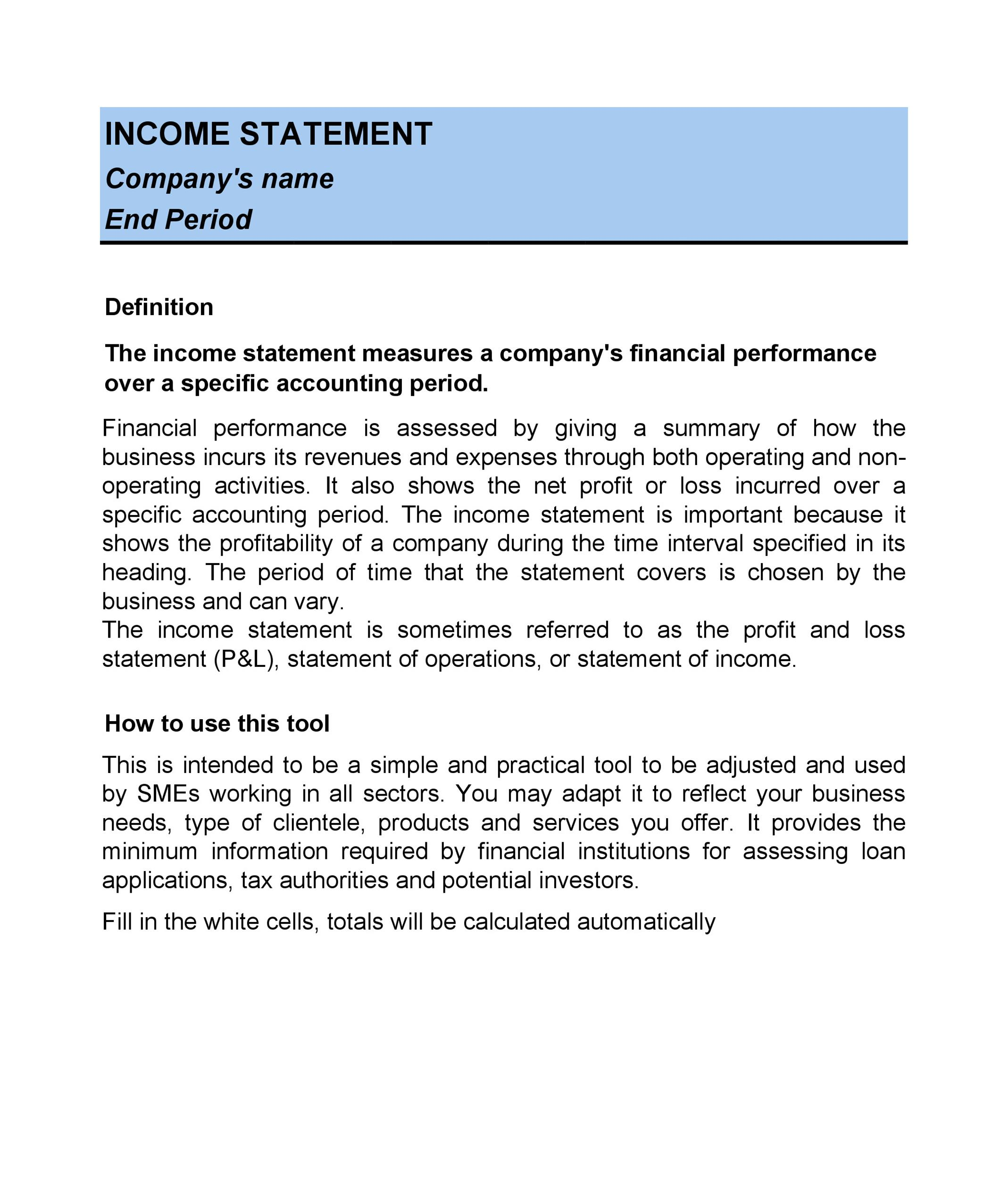 27 Income Statement Examples  Templates (Single/Multi step, Pro-forma) - Income Template