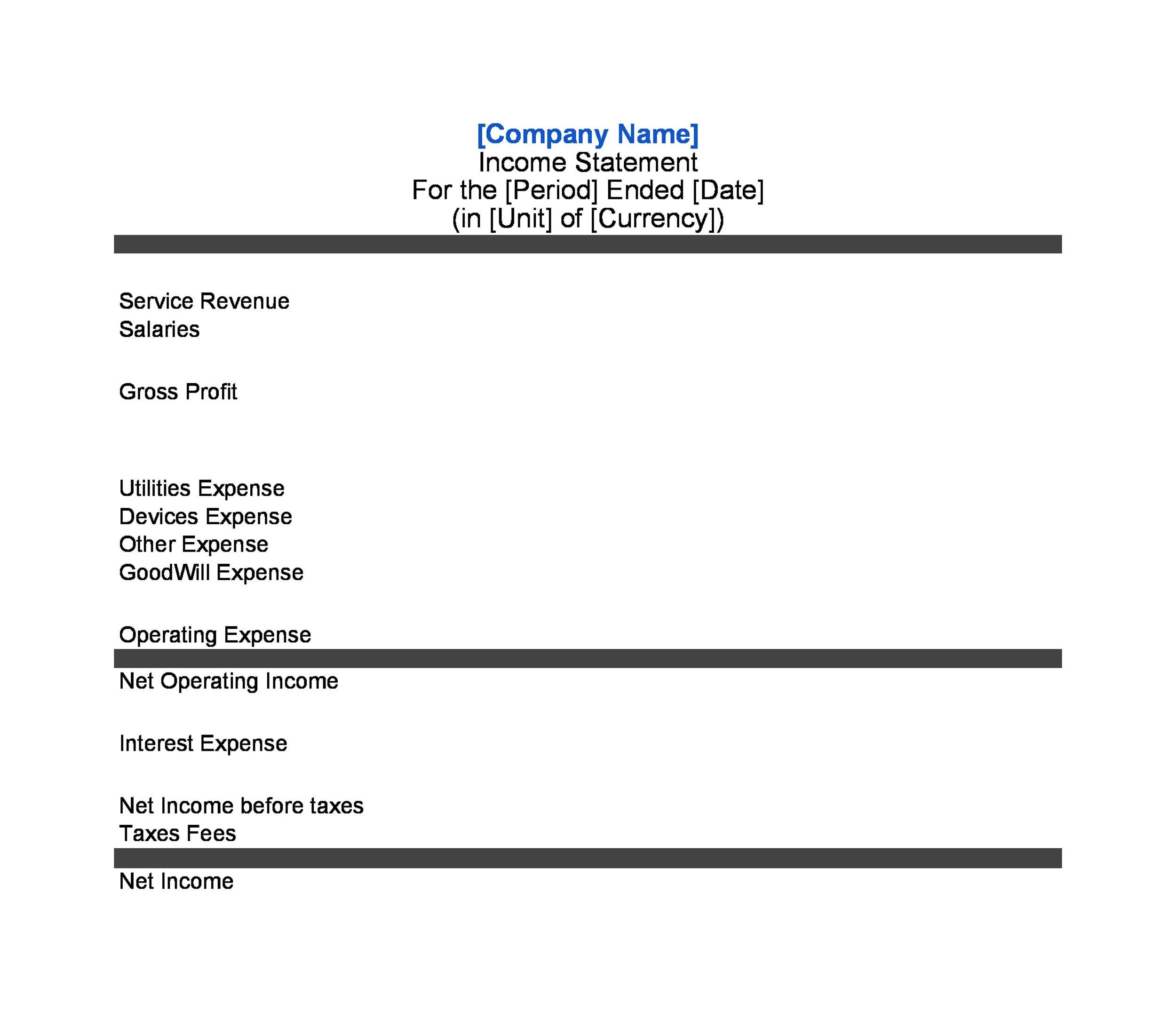 27 Income Statement Examples  Templates (Single/Multi step, Pro-forma) - income statement template