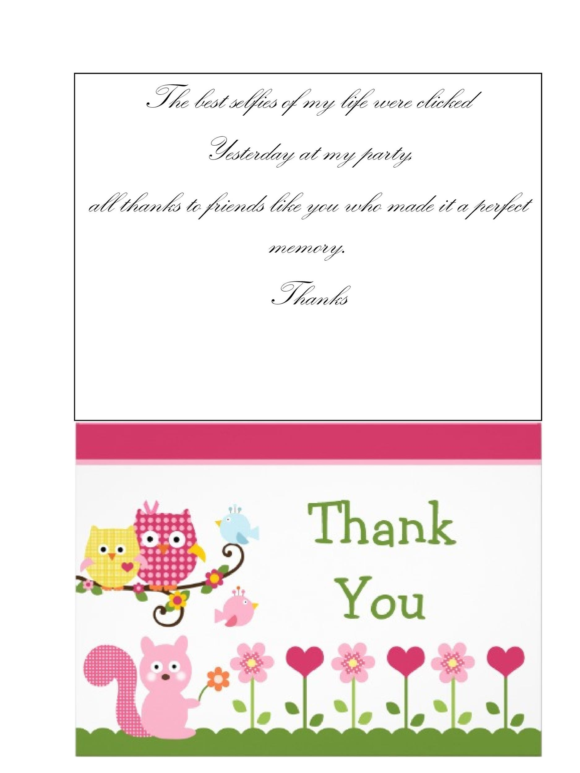 30+ Free Printable Thank You Card Templates (Wedding, Graduation